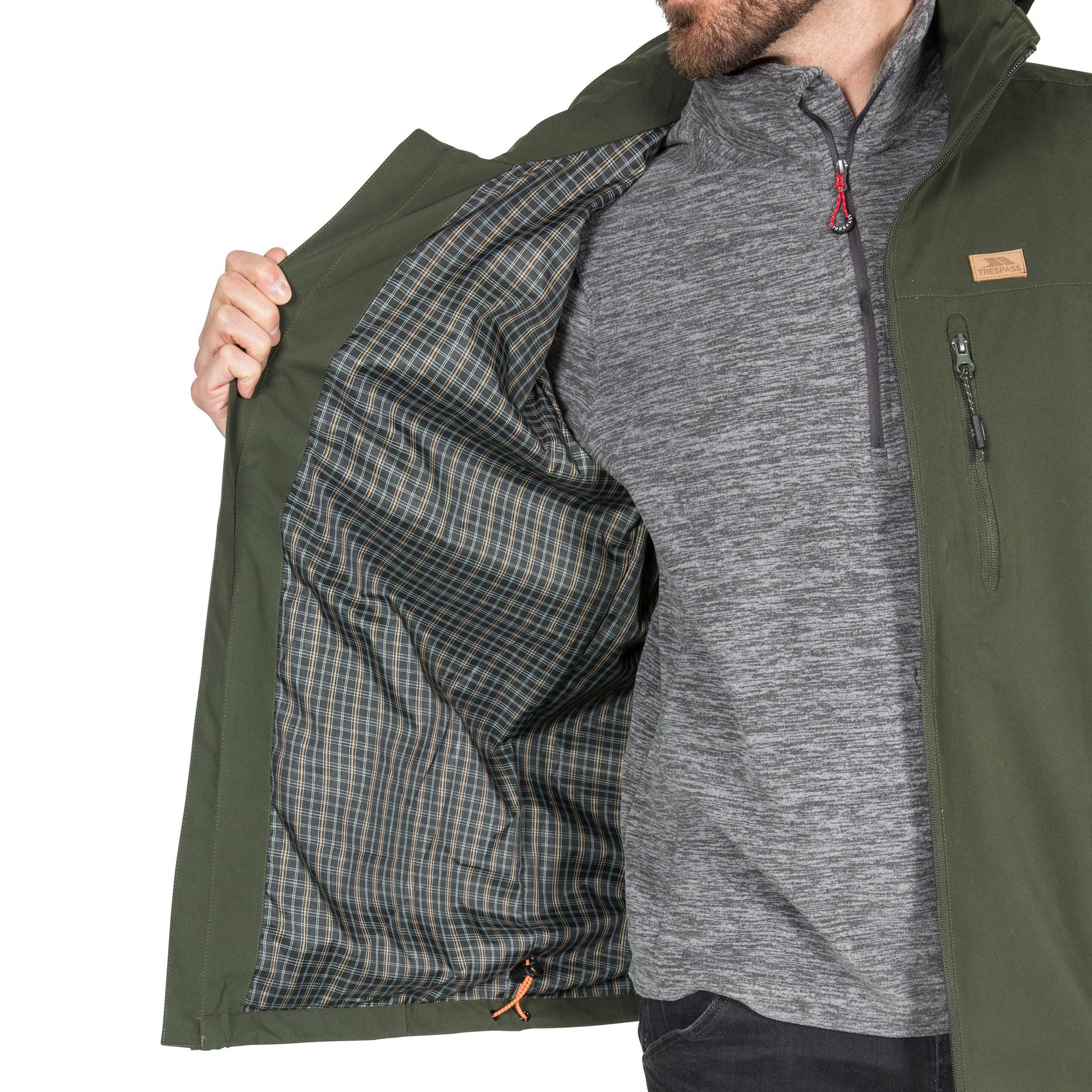 Trespass Mens Weir Waterproof Jacket (L) (Black)