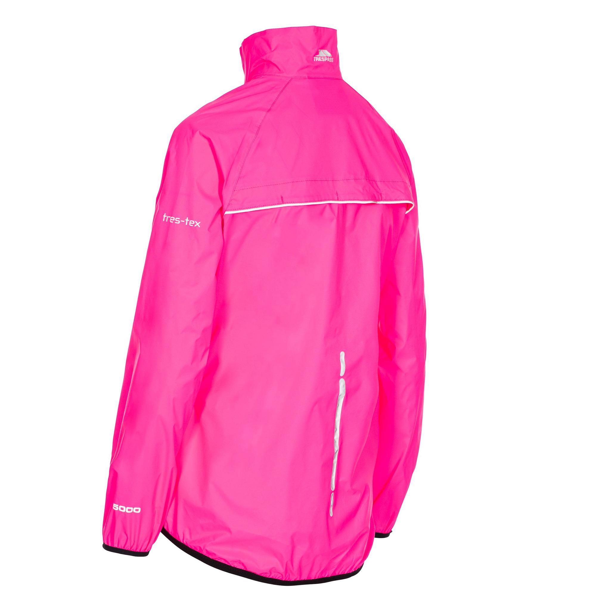 Trespass-Womens-Ladies-Beaming-Packaway-Hi-Vis-Jacket-TP4616 thumbnail 6