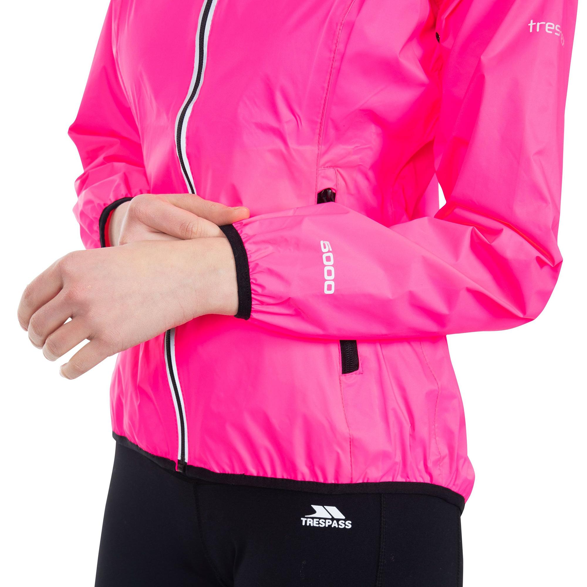 Trespass-Womens-Ladies-Beaming-Packaway-Hi-Vis-Jacket-TP4616 thumbnail 7