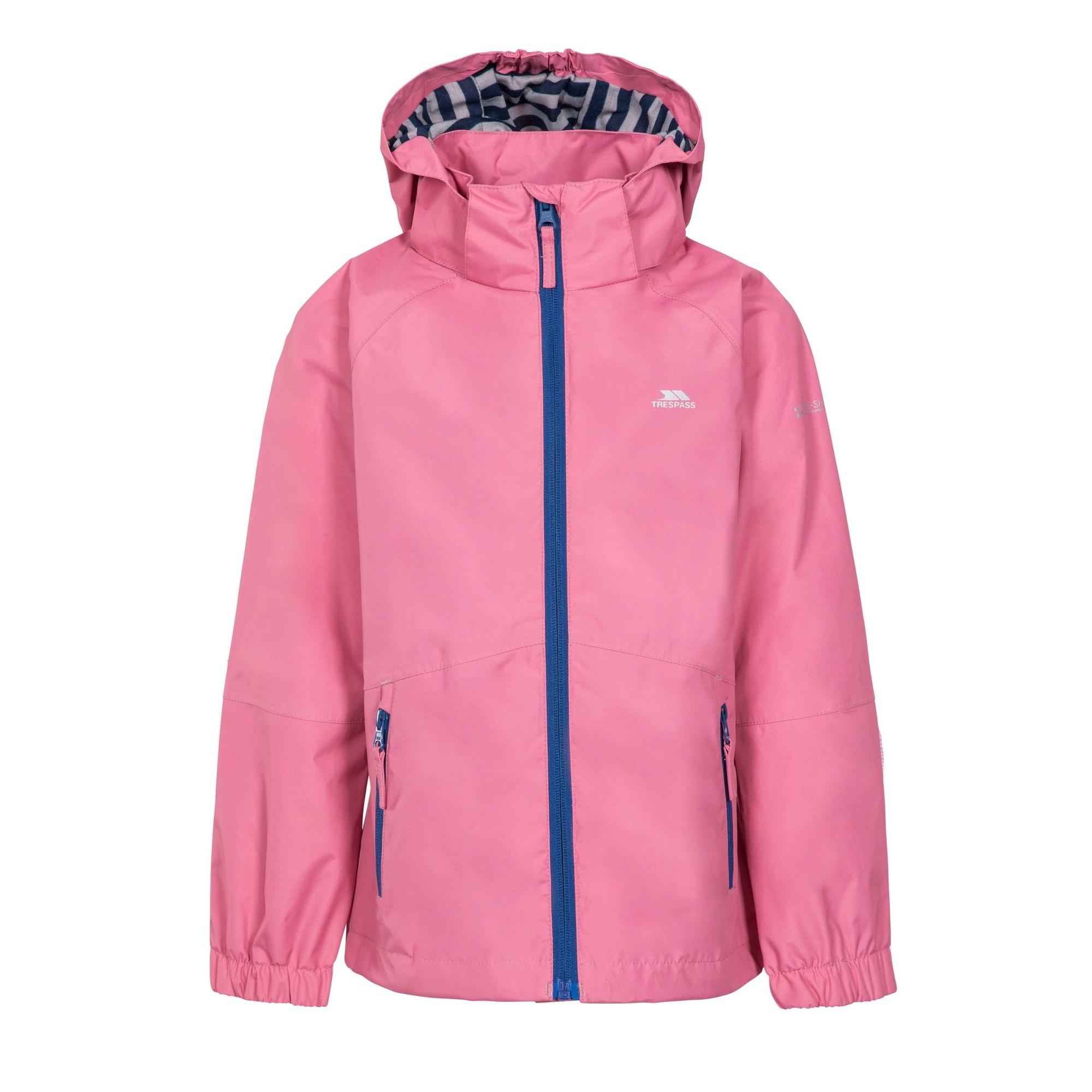 Trespass Childrens Girls Fenna Waterproof Jacket (2/3 Years) (Flamingo)