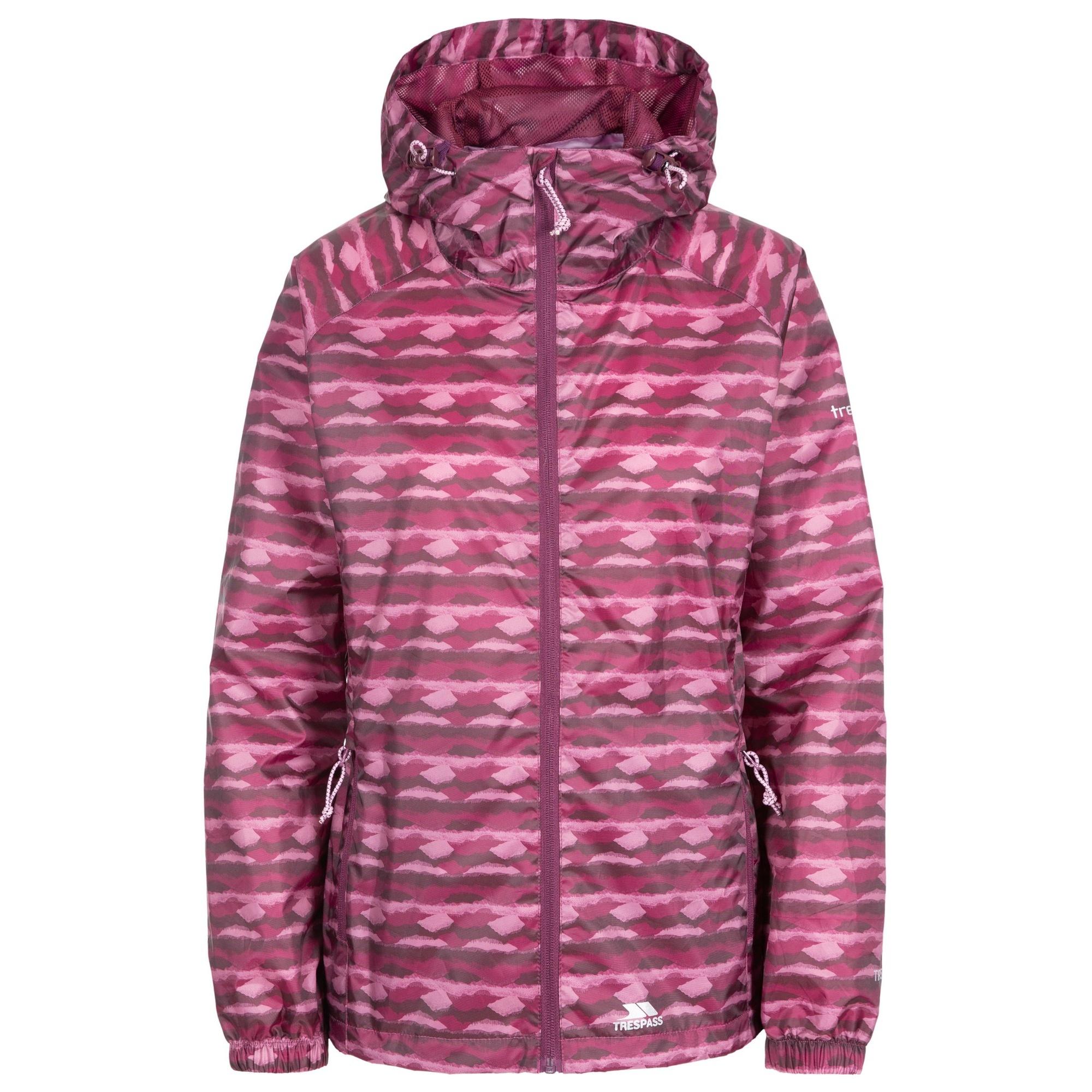 Trespass Womens/Ladies Indulge Waterproof Packaway Jacket (XXL) (Fig Print)