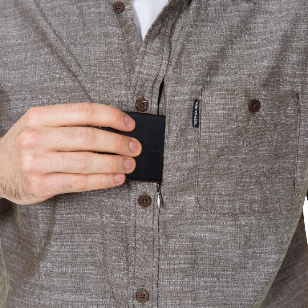 Trespass-Mens-Slapton-Short-Sleeve-Shirt-TP4686 thumbnail 9