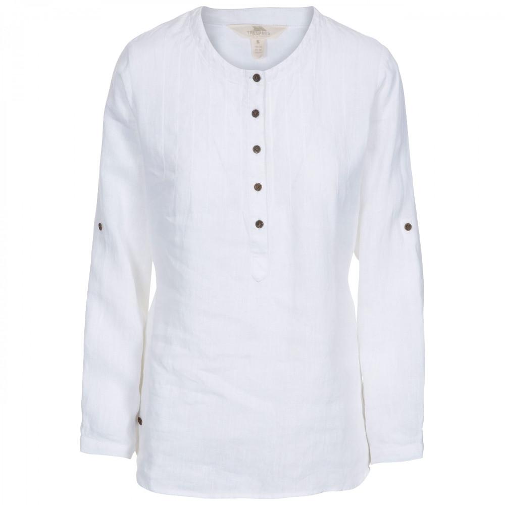 Trespass Womens Messina Casual Cotton Blouse (M) (White)