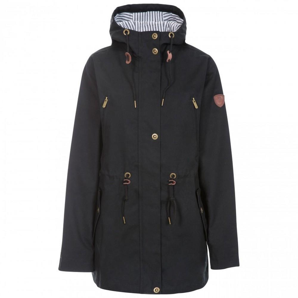 Trespass Womens/Ladies Johanna Waterproof Jacket (XS) (Black)