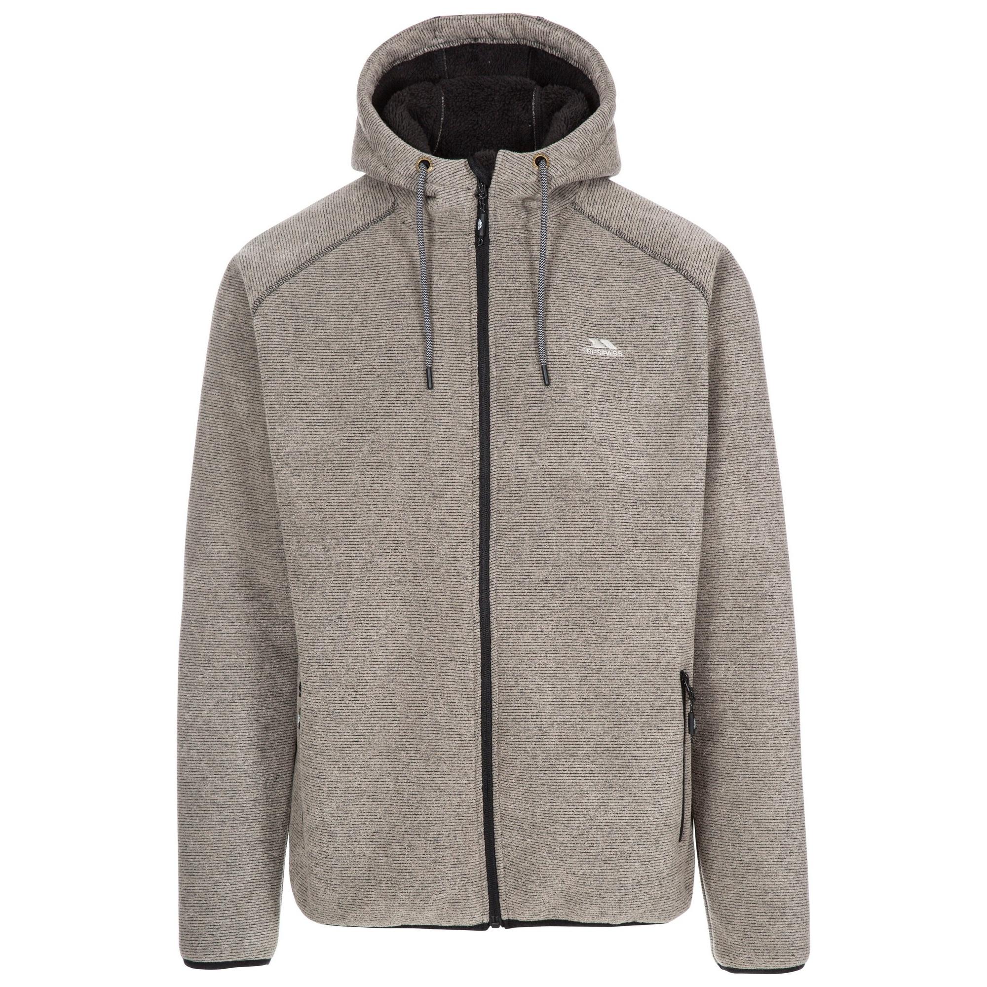 Trespass Mens Vetiver Fleece Jacket (XL) (Latte Marl)