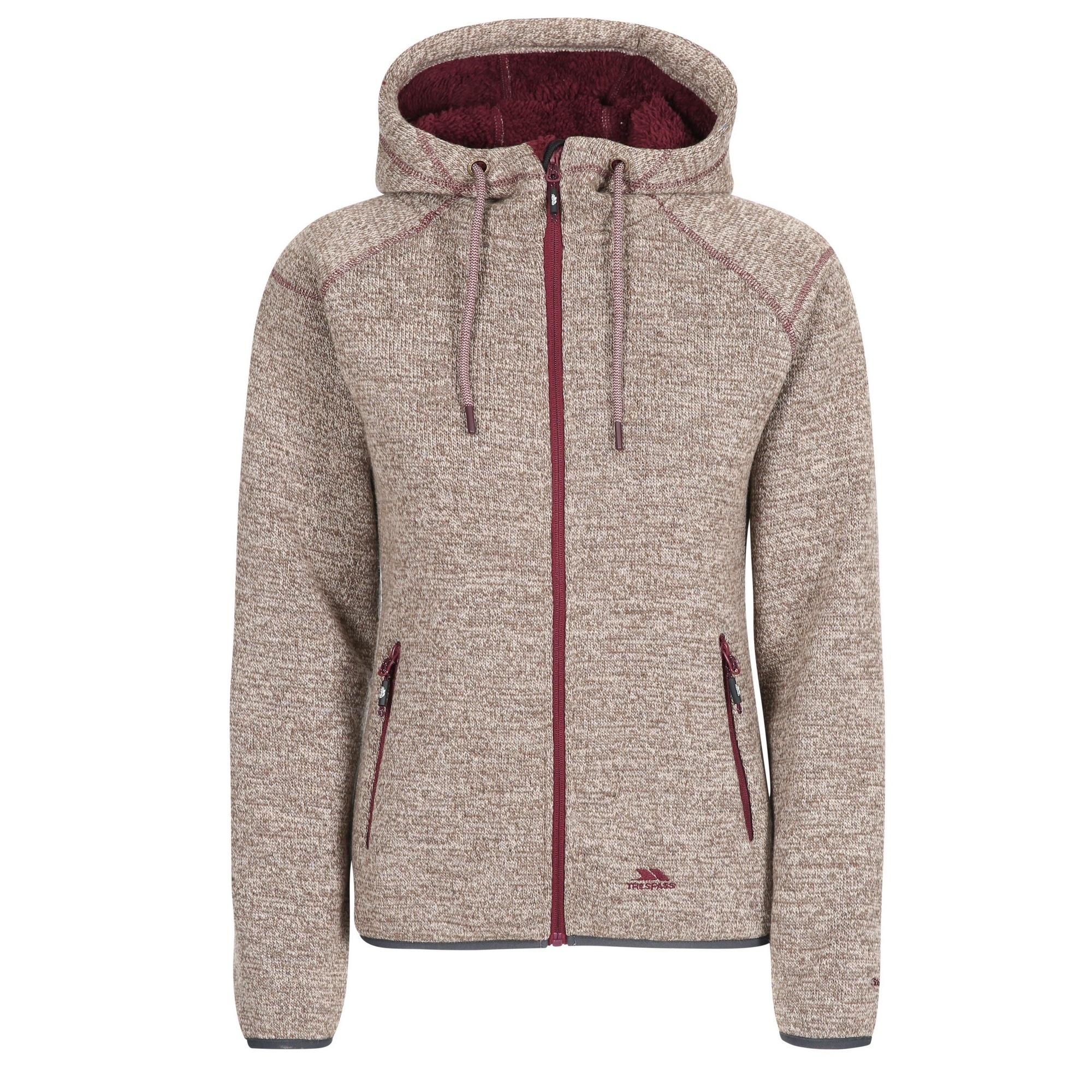 Trespass Womens/Ladies Albatross Fleece Jacket (XS) (Latte Marl)