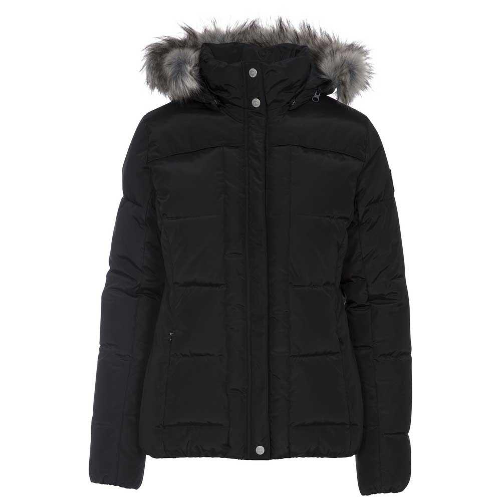Trespass Womens/ladies Nanette Faux Fur Trim Jacket (XXS) (Black)