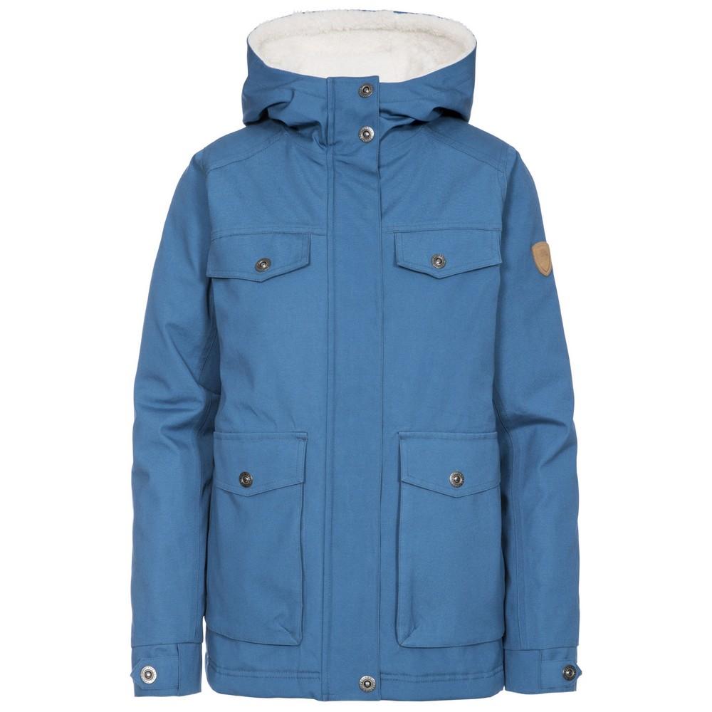 Trespass Womens/Ladies Devoted Waterproof Jacket (L) (Indigo)