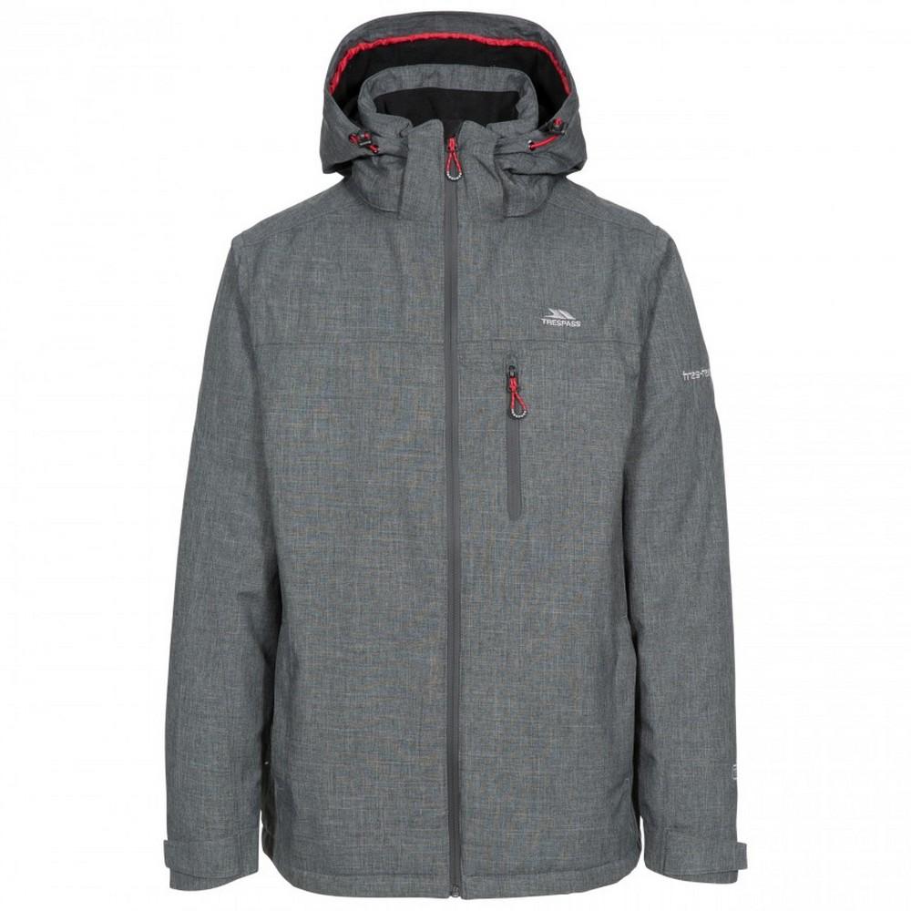 Trespass Mens Fyfinn Padded Waterproof Jacket (L) (Dark Grey)