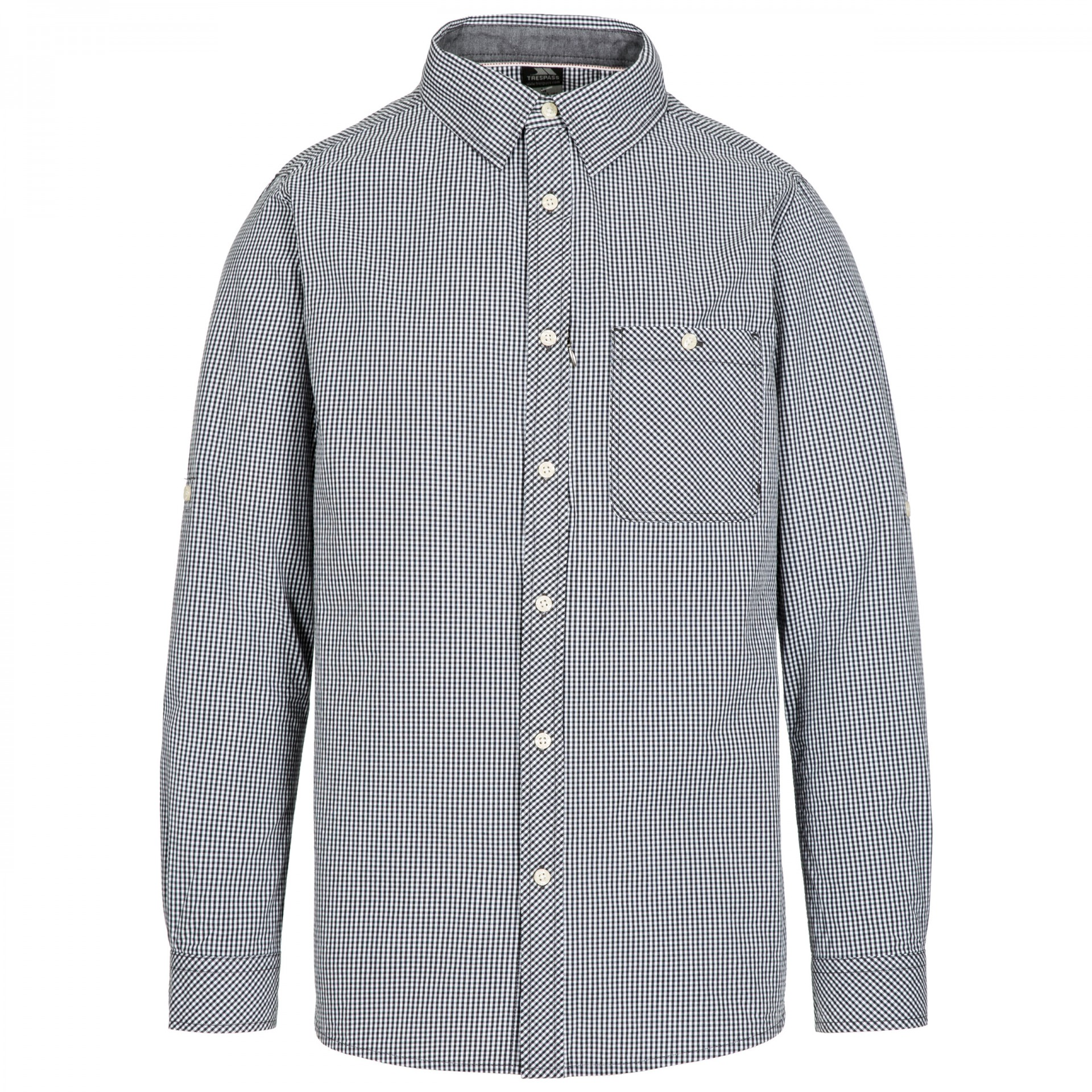 Trespass Mens Yaddlethorpe Cotton Shirt (XXS) (Black Gingham)