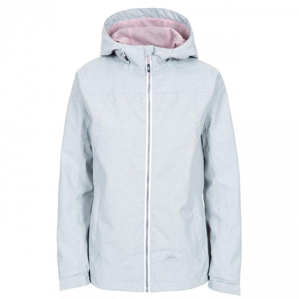 Trespass Womens/Ladies Virtual Waterproof Jacket (L) (Grey Marl)