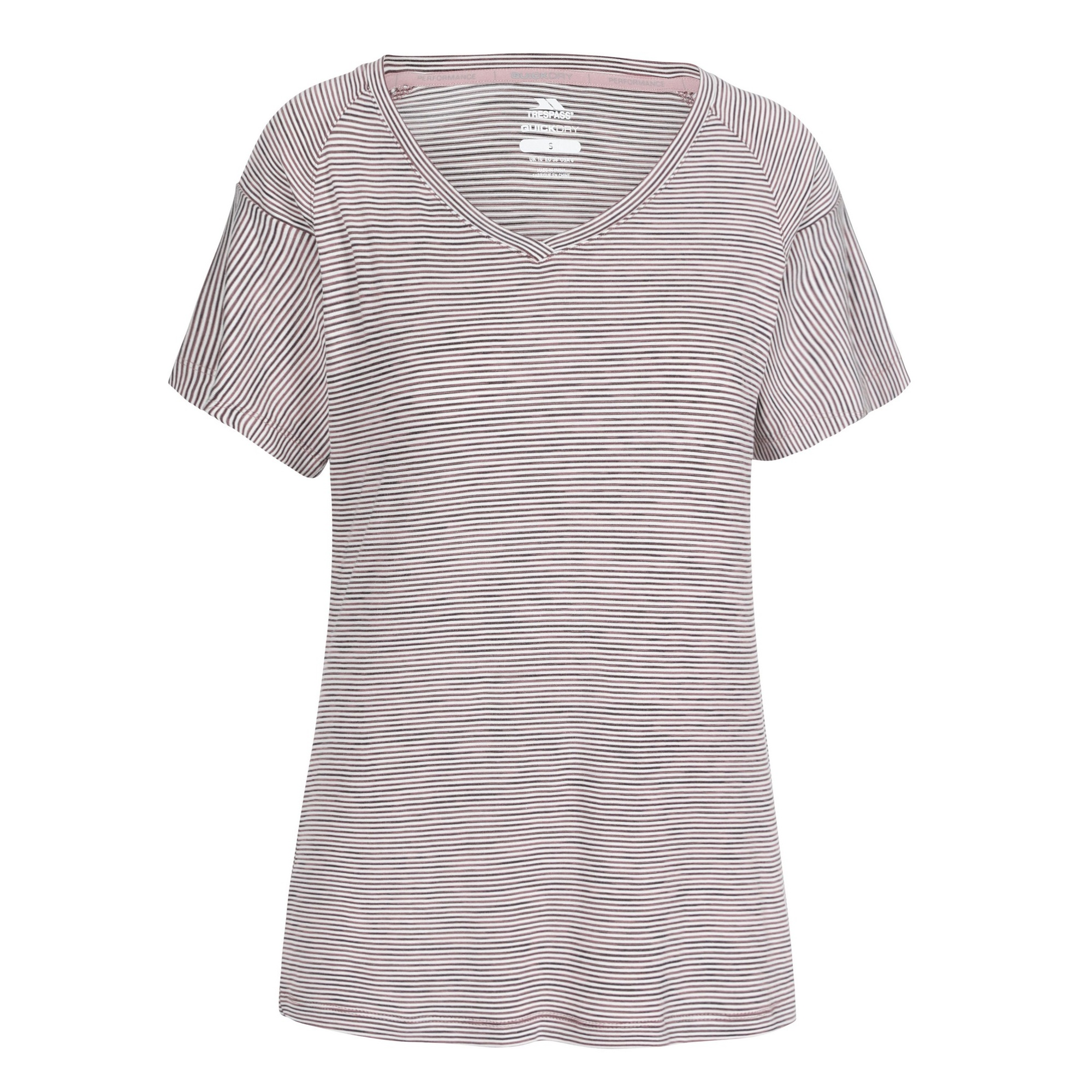 Trespass Womens/Ladies Inca Top (S) (Fig Stripe)