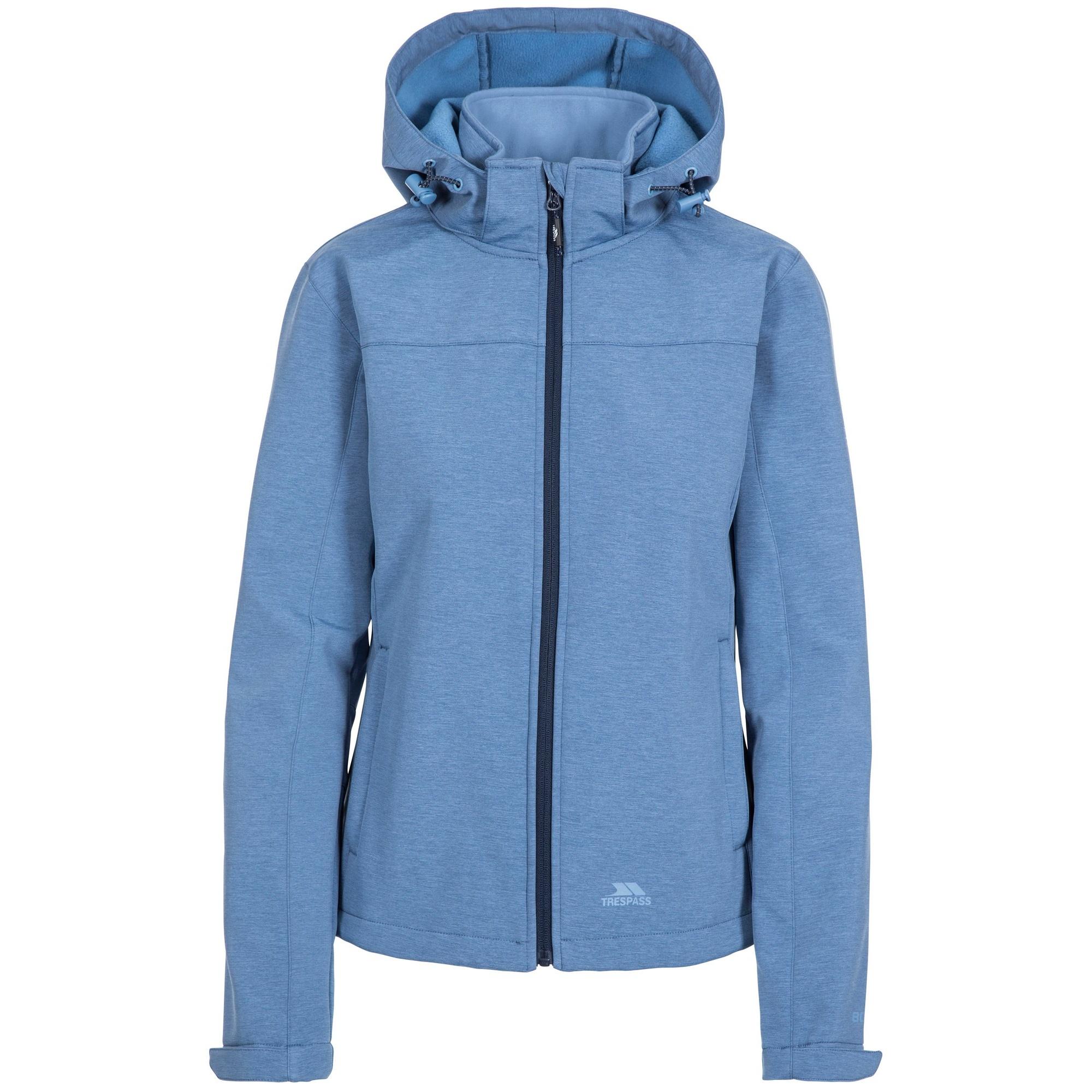 Trespass Womens/Ladies Leah Waterproof Softshell Jacket (S) (Denim Blue Marl)