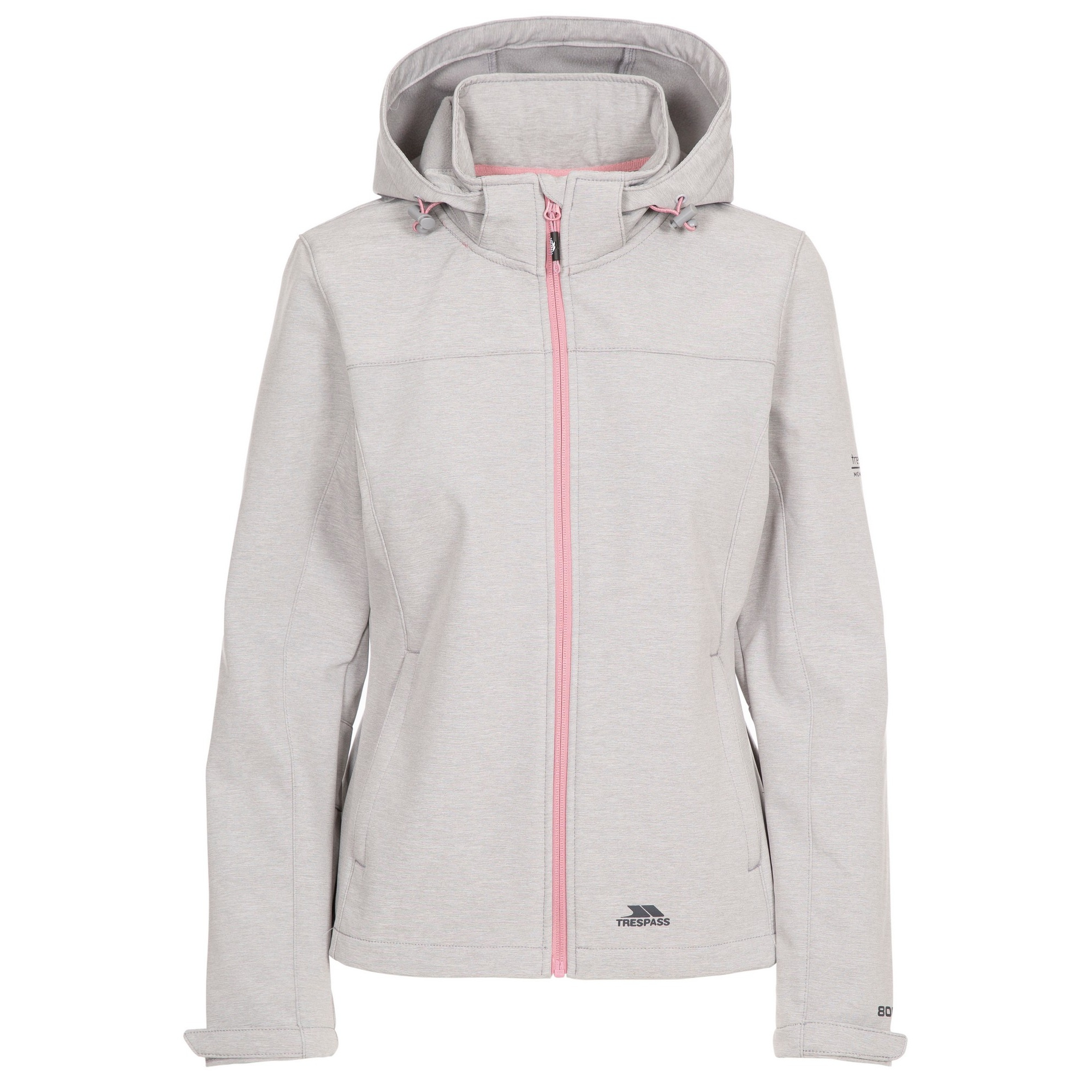 Trespass Womens/Ladies Leah Waterproof Softshell Jacket (S) (Platinum Marl)