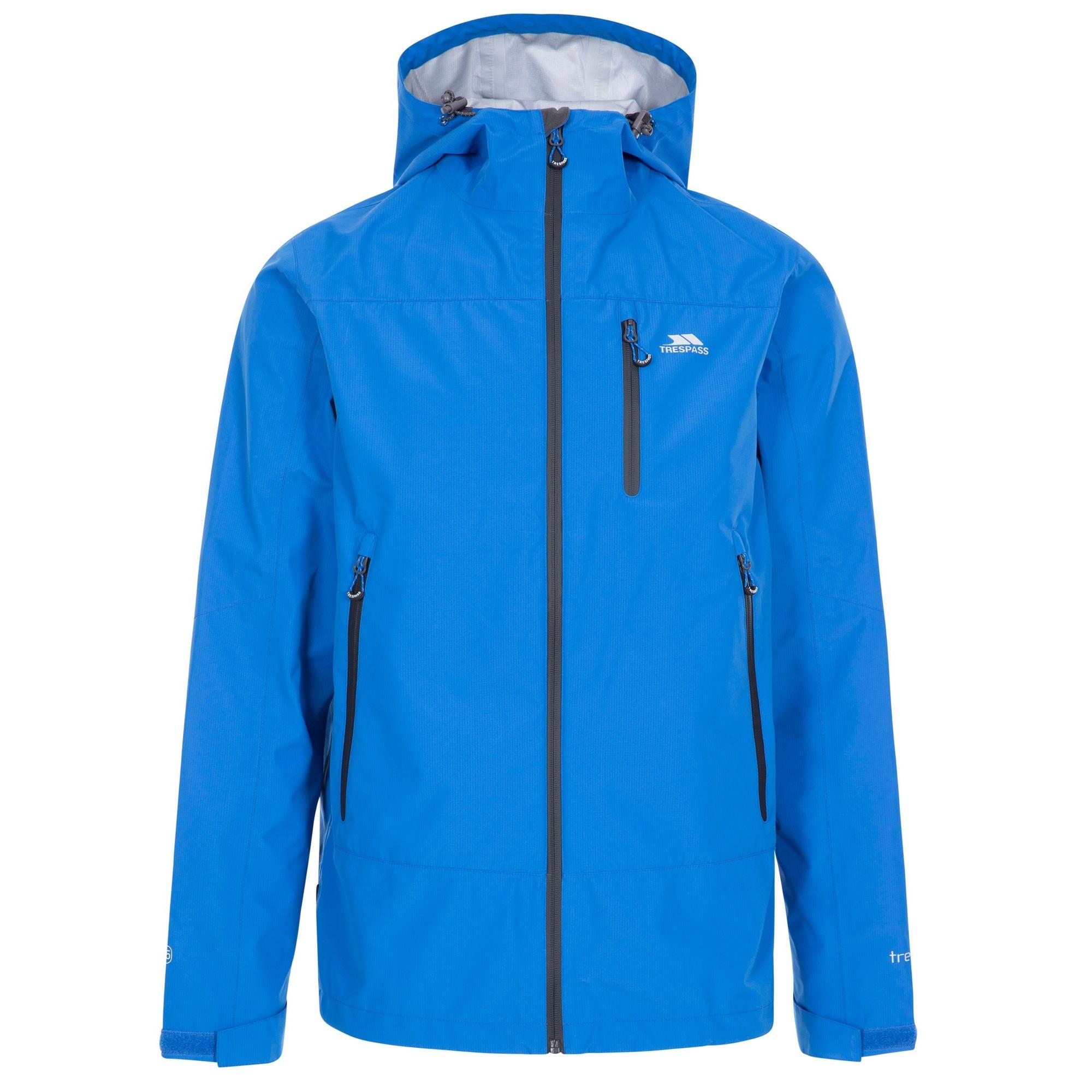 Trespass Mens Rakenfard Waterproof Jacket (XS) (Blue)