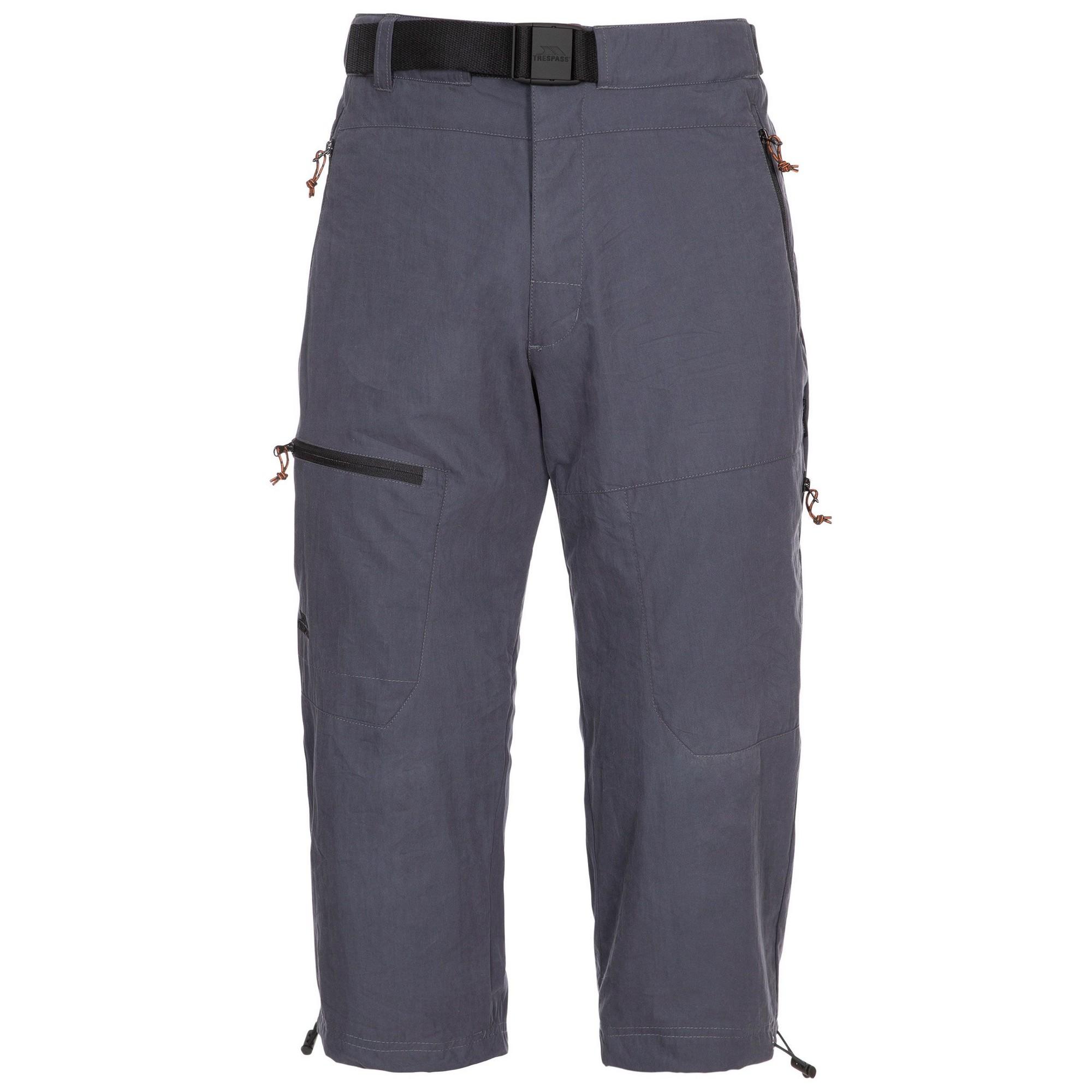 Trespass Mens Wellbake Cropped Trousers (M) (Dark Grey)