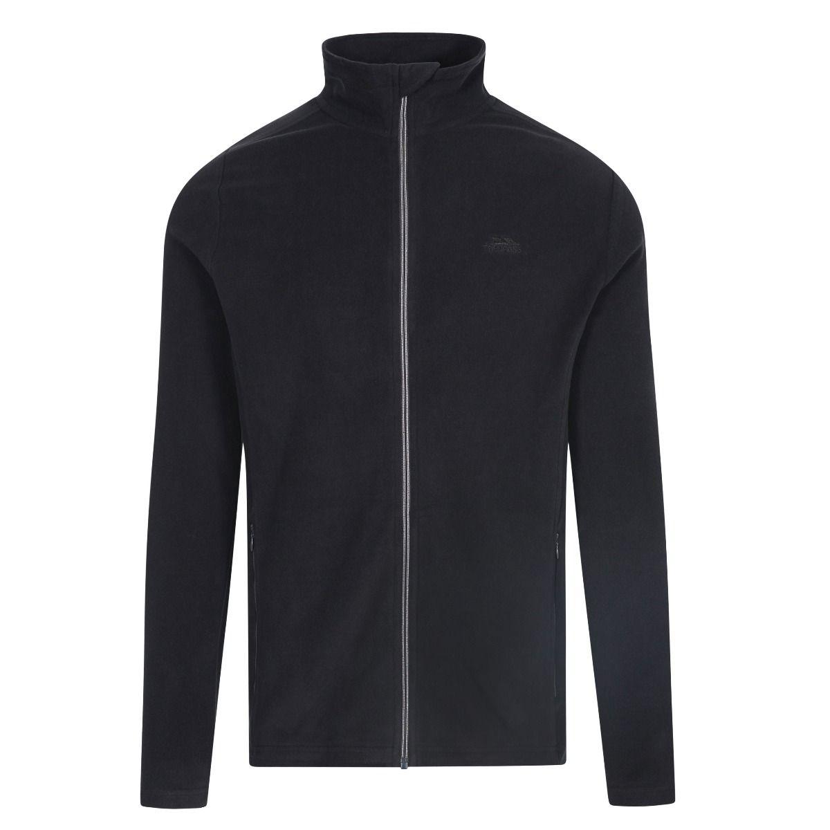 Trespass Mens Tadwick Fleece Jacket (XXS) (Black)