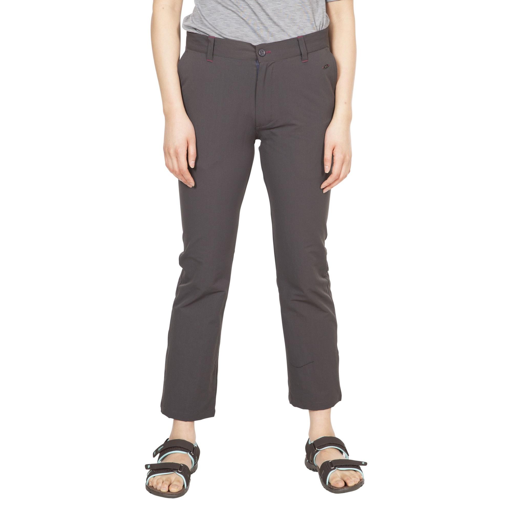 Trespass Womens/Ladies Zulu Cropped Trousers (16 UK) (Dark Grey)