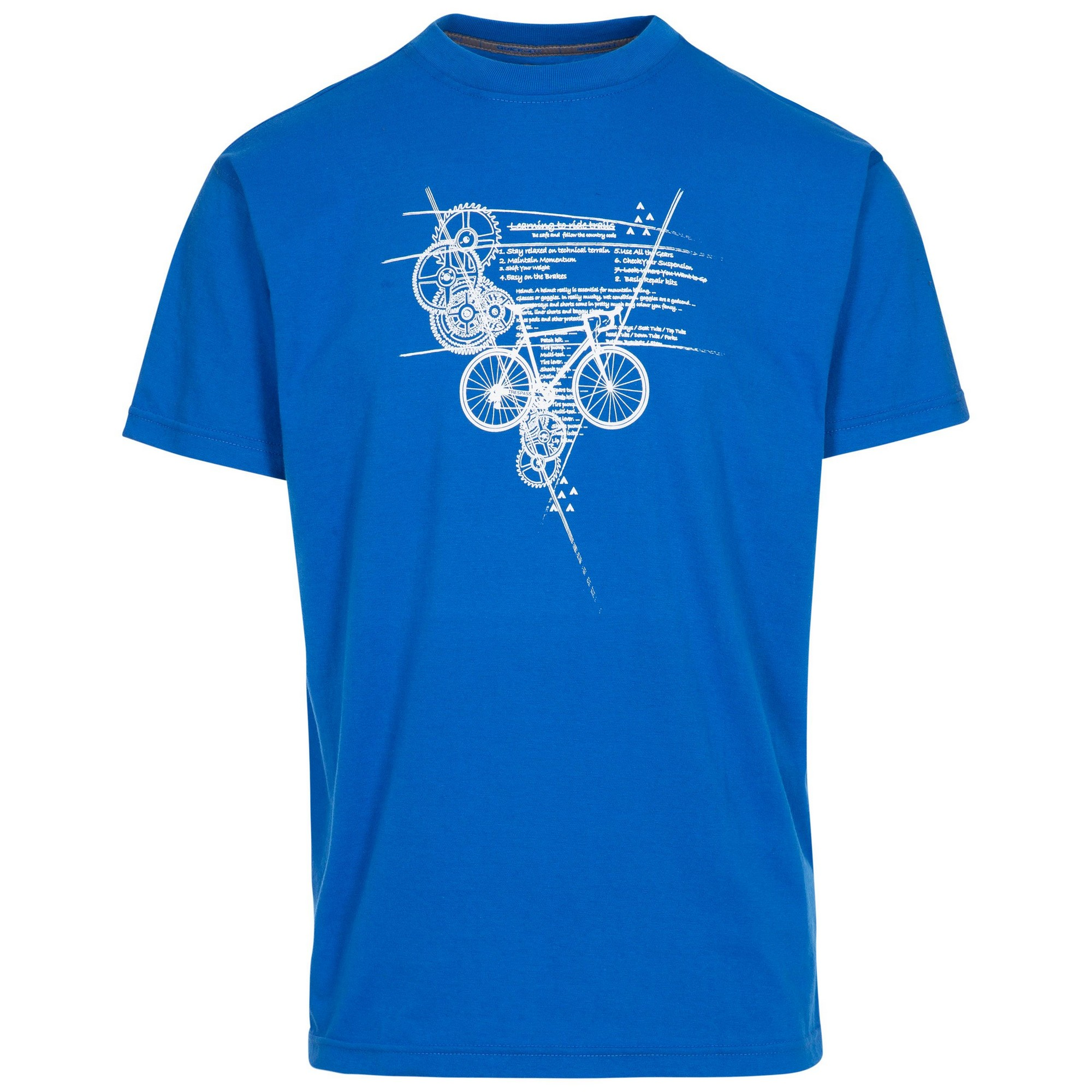 Trespass Mens Memento T-Shirt (M) (Blue)