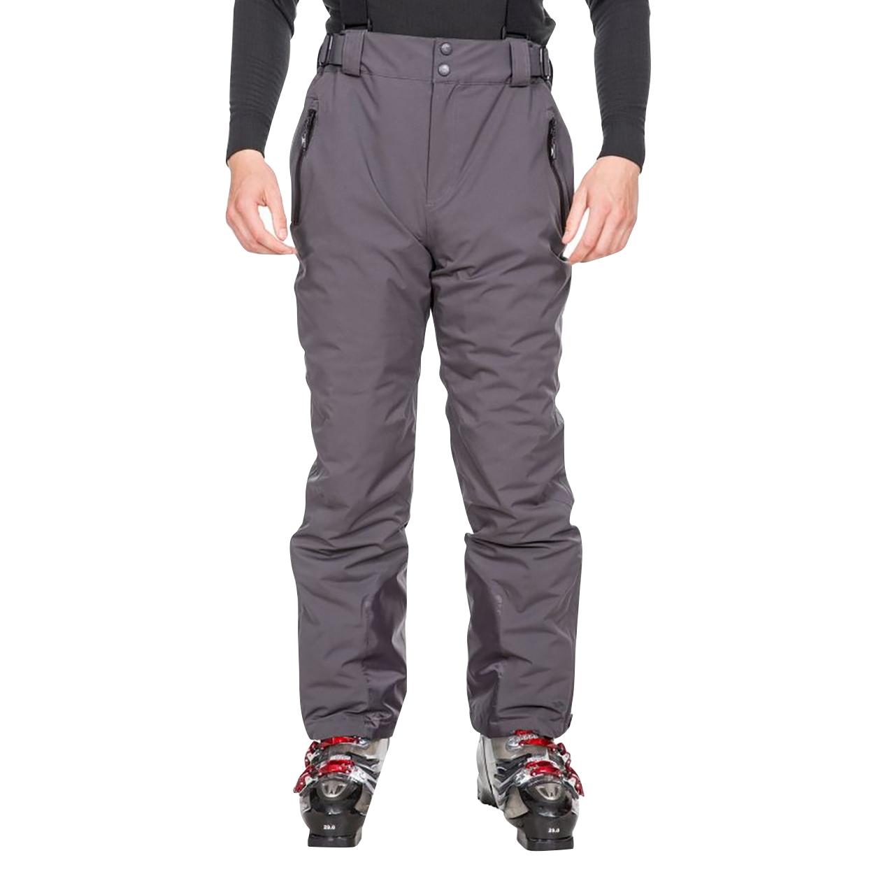 Trespass Mens Trevor Ski Trousers (XL) (Dark Grey)