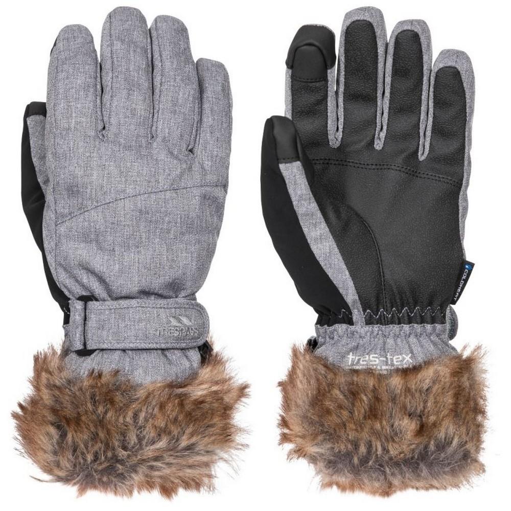 Trespass Womens/Ladies Shiloh Gloves (S) (Platinum)