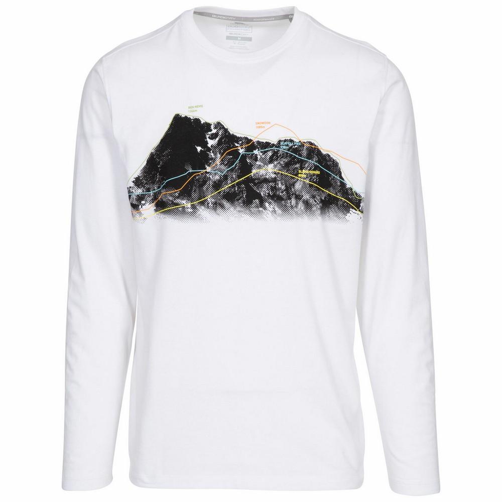 Trespass Mens Wrenburyton Long-Sleeved T-Shirt (L) (White)