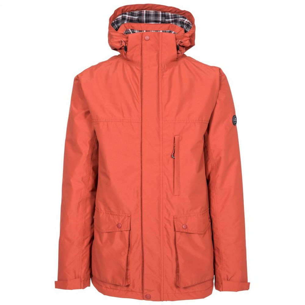 Trespass Mens Vauxelly Waterproof Jacket (XL) (Spice Red)