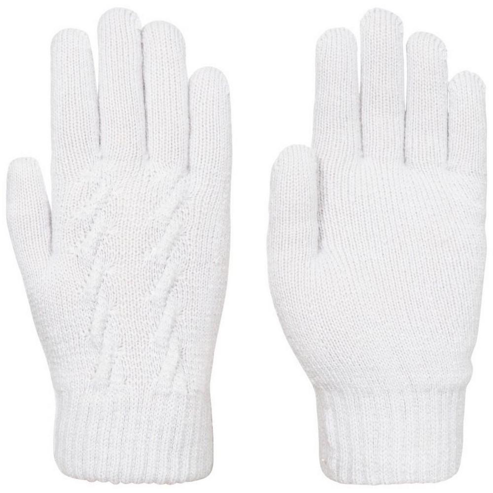 Trespass Womens/Ladies Ottilie Knitted Gloves (S-M) (Pale Grey)