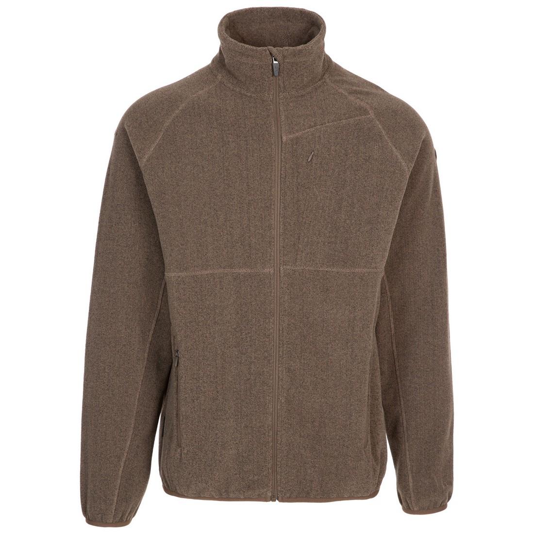 Trespass Mens Talkintire Fleece Jacket (S) (Cashew)