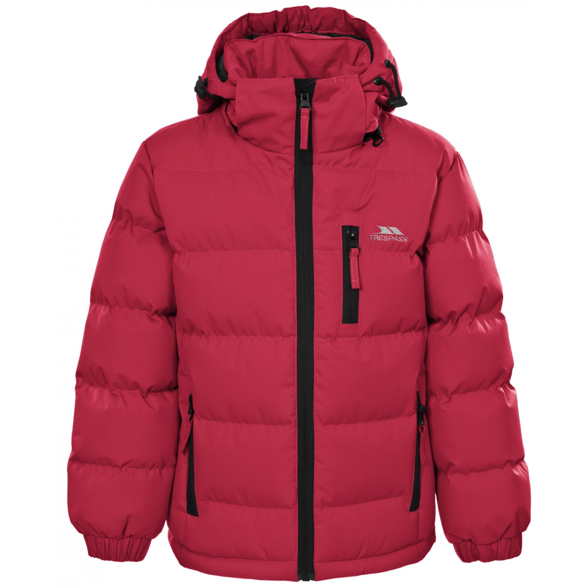 Trespass Kids Boys Tuff Padded Winter Jacket (5/6 Years) (Red)