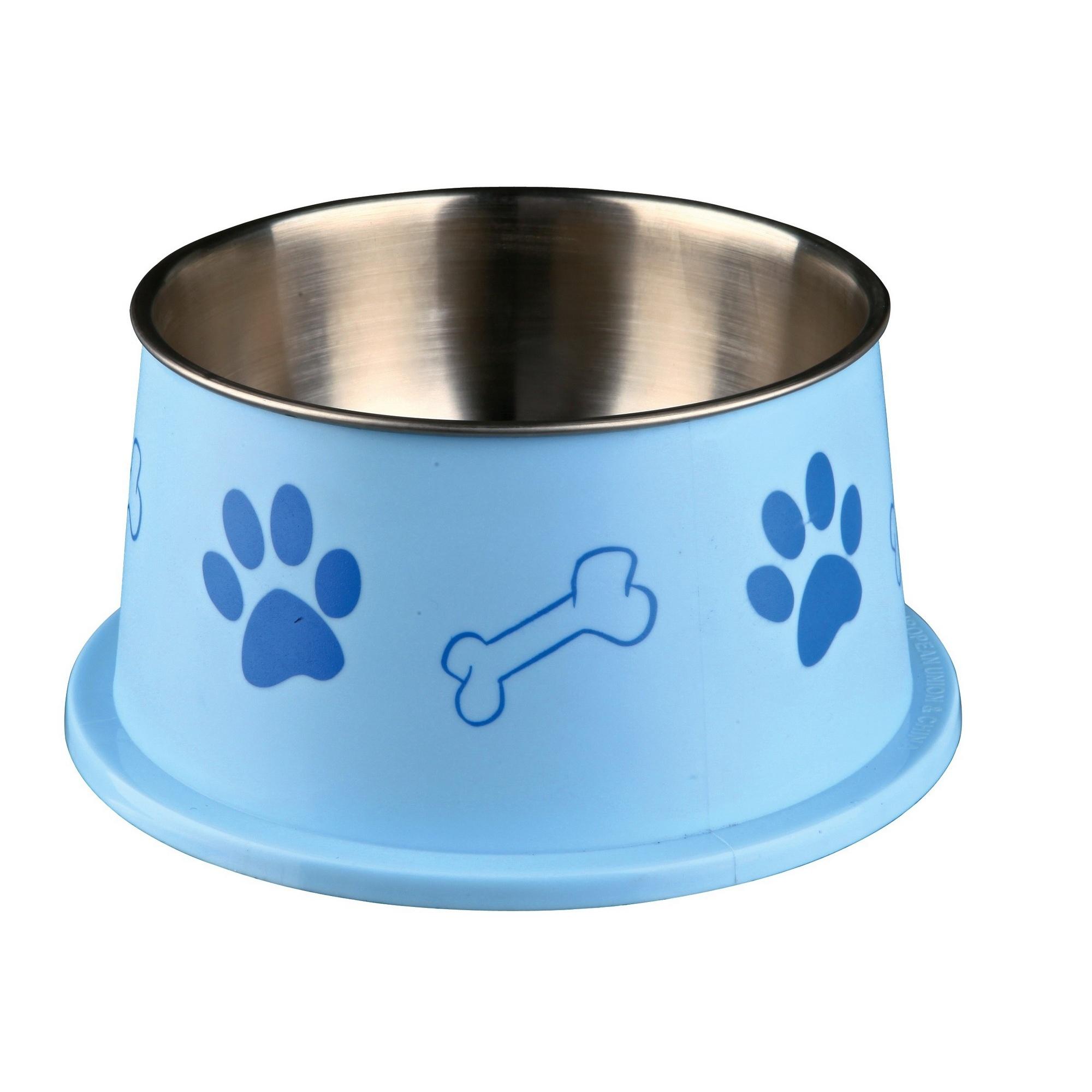 Cuenco de pl/ástico con capa de acero inoxidable para perro Trixie