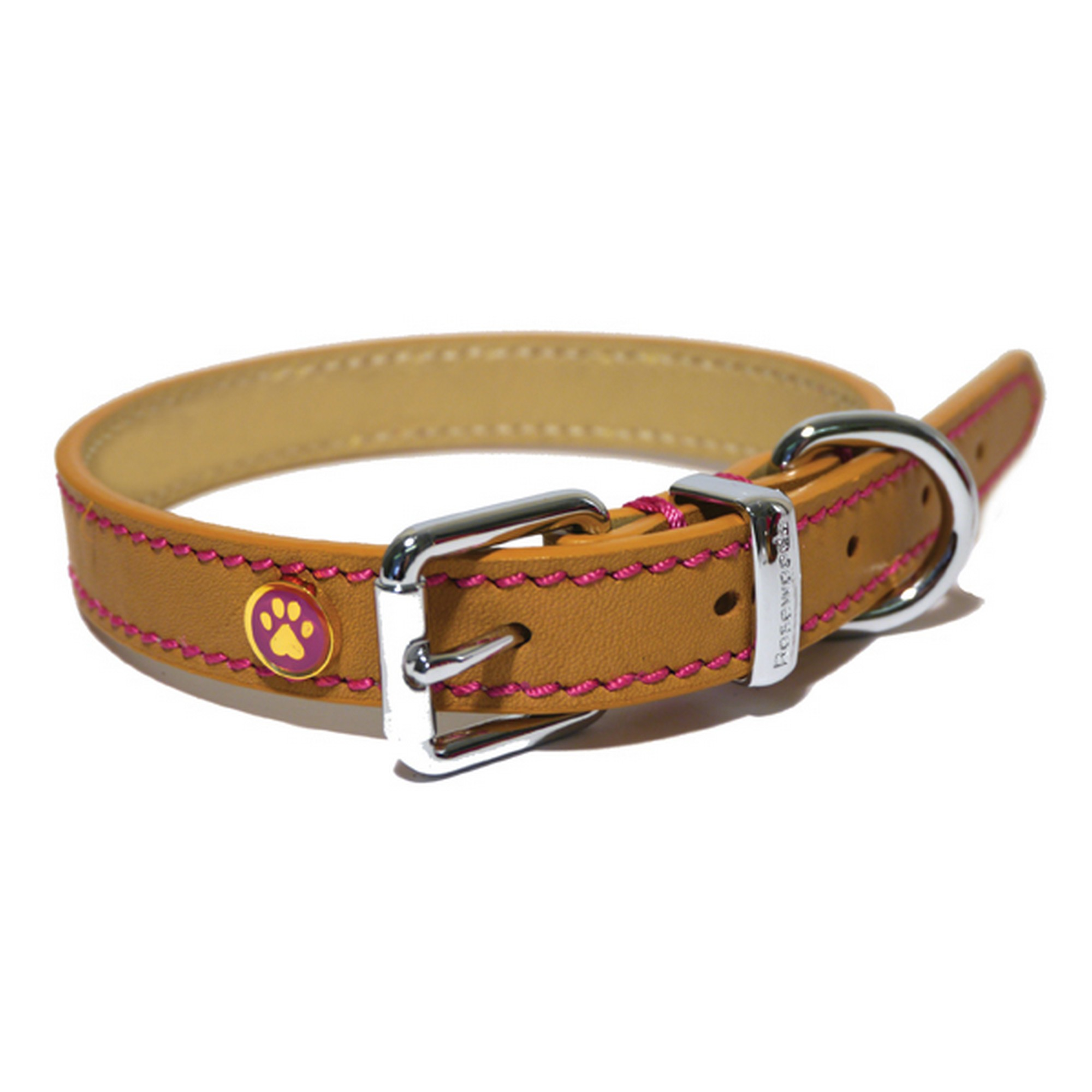 Rosewood Leather Dog Collar