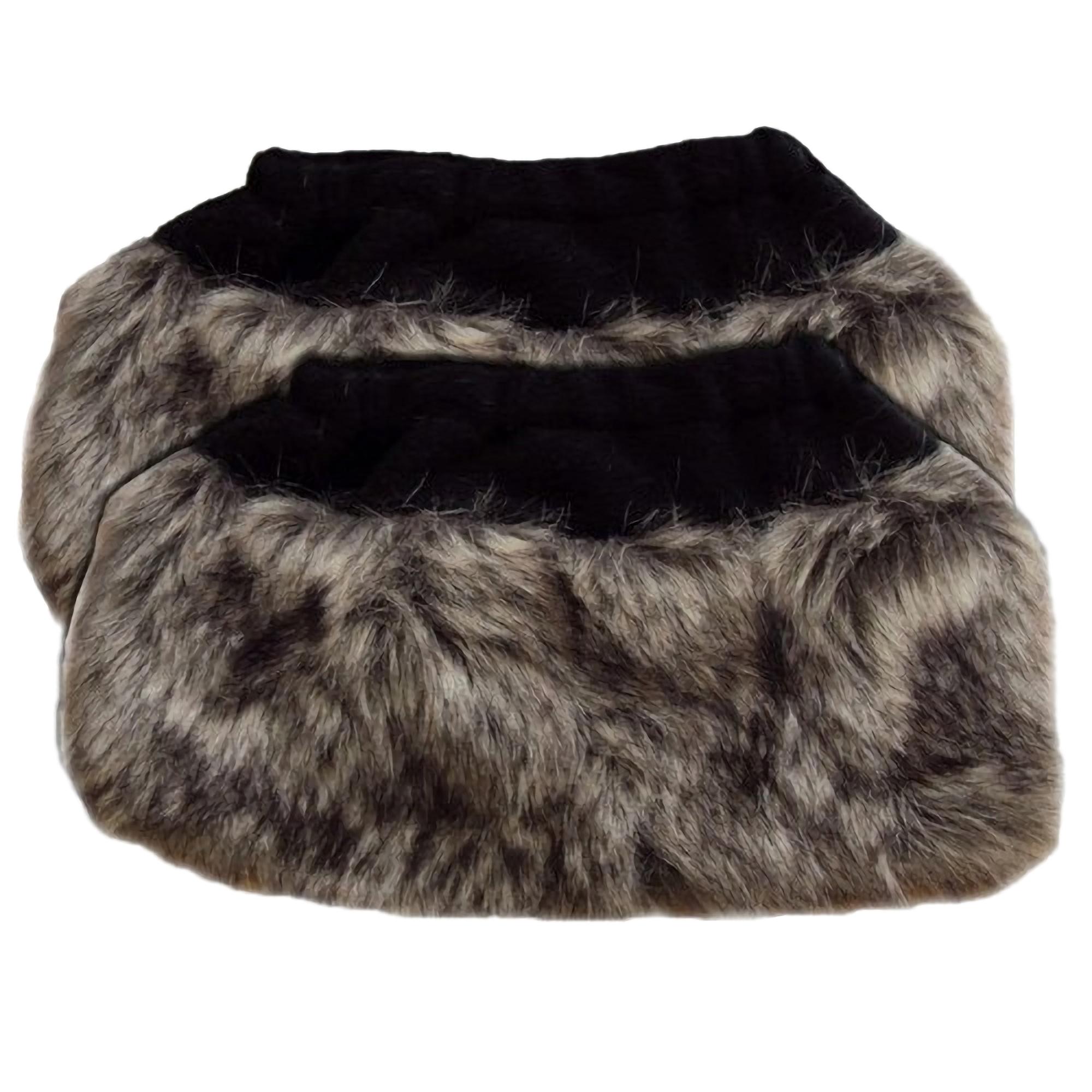 Faux Fur Cuffs: Womens/Ladies Faux Fur Animal Boot Toppers/Cuffs Leg