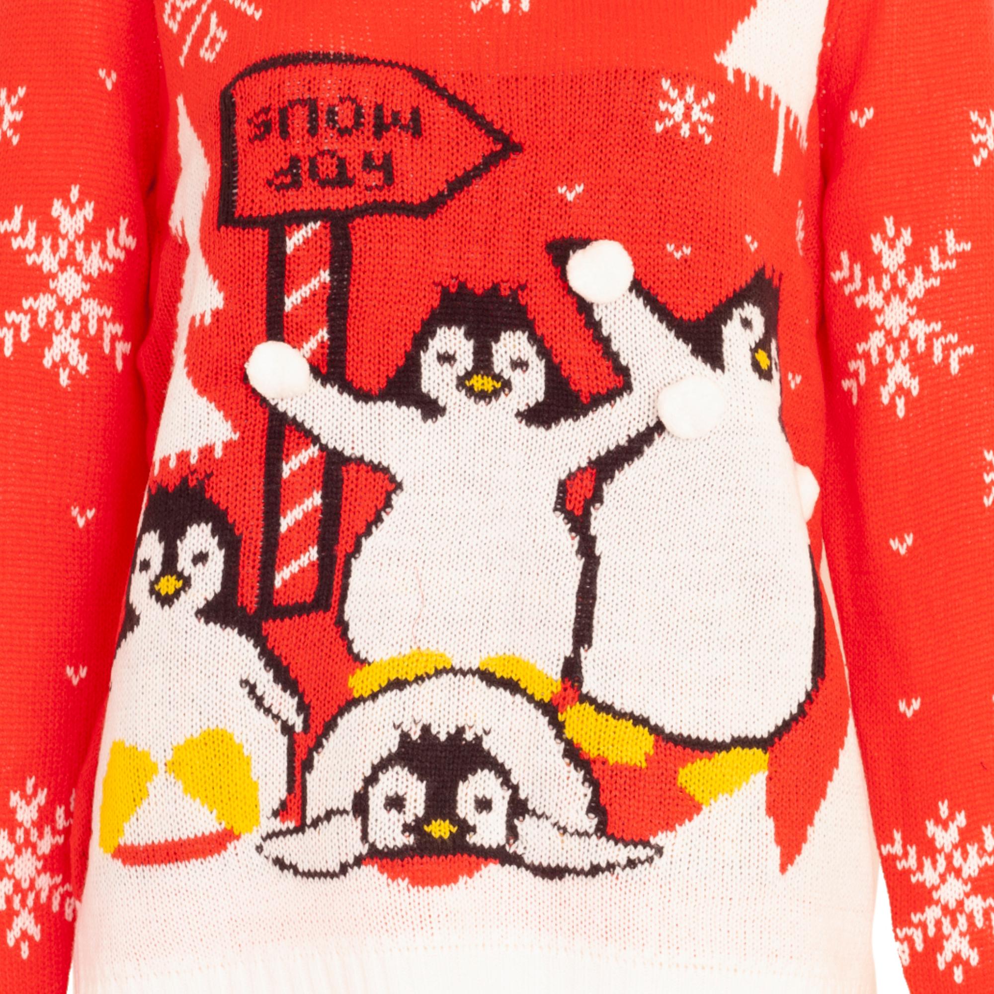 XM132 Brave Soul Womens//Ladies Christmas Elfie Costume Jumper
