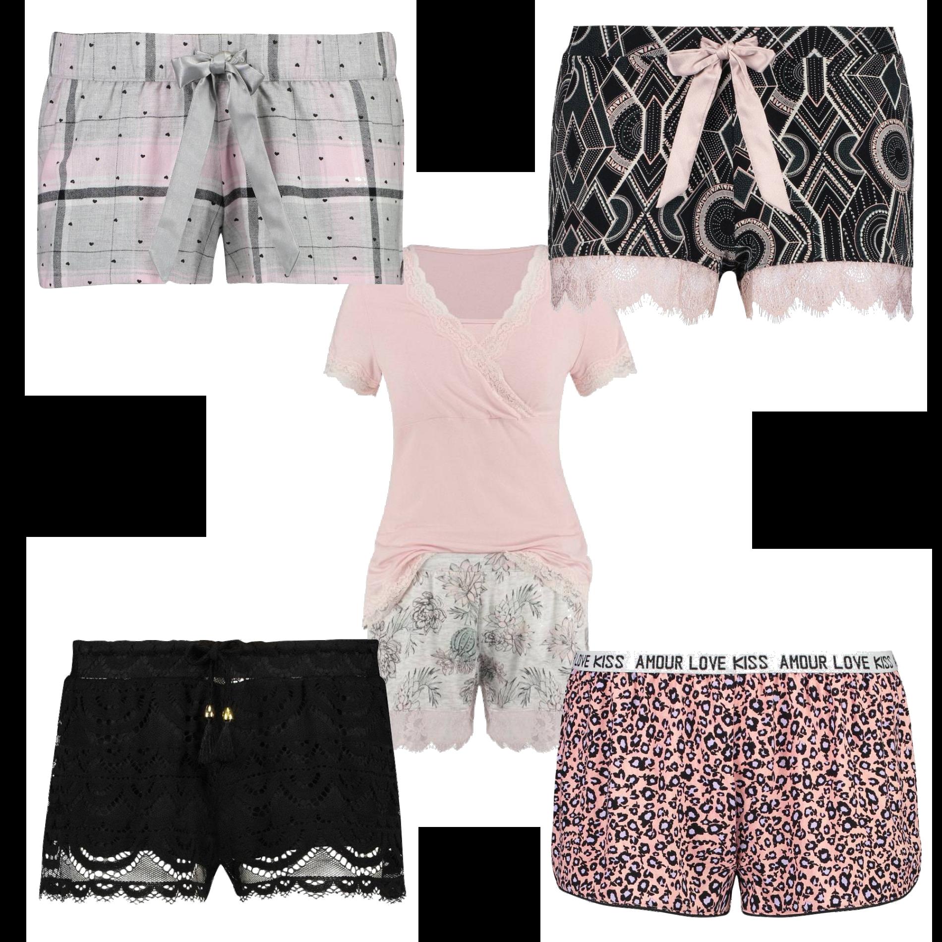 Snygga pyjamas shorts från Hunkemöller.se