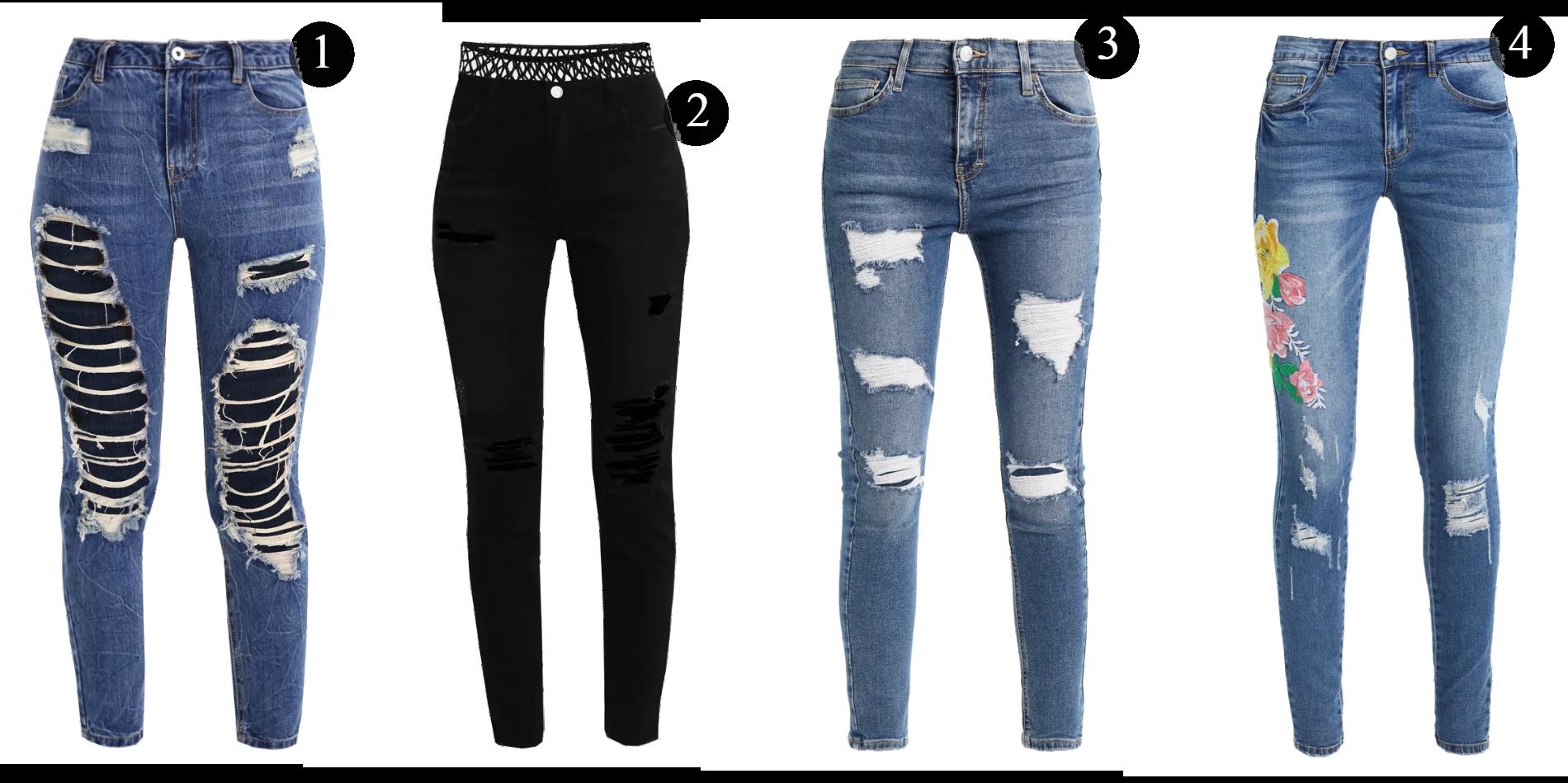 Rea på jeans