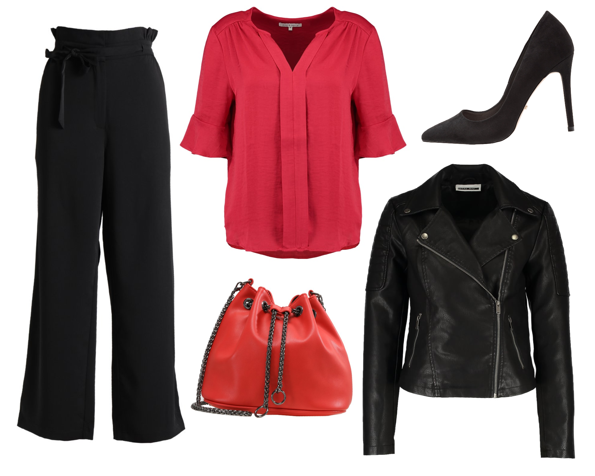 Outfit inspo / Black & red