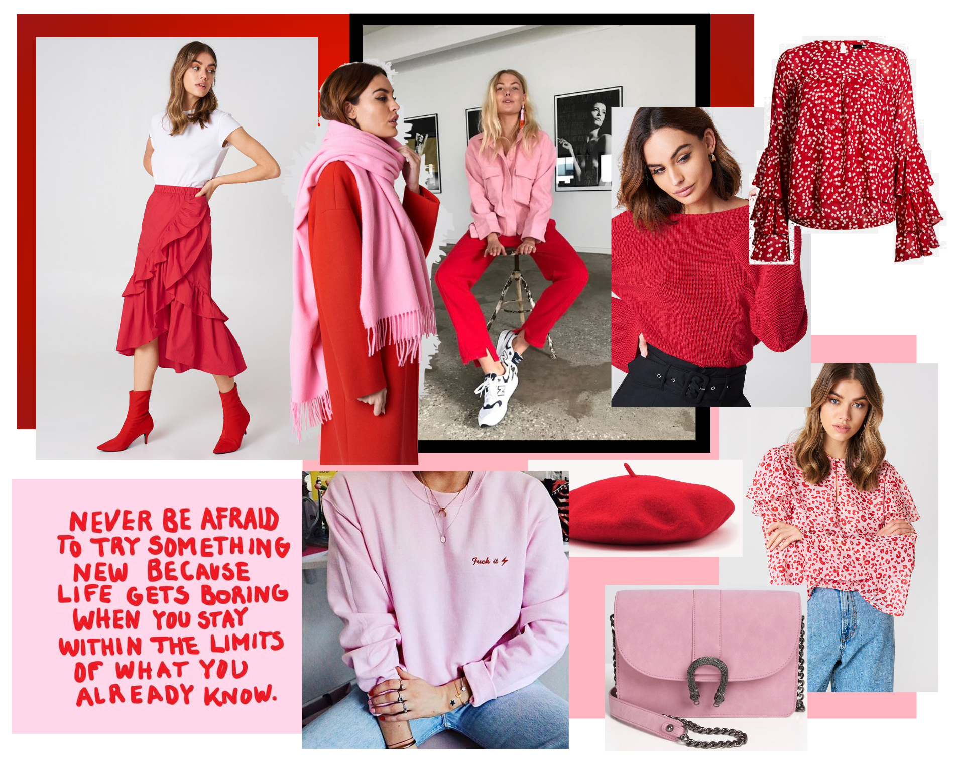 Red & pink