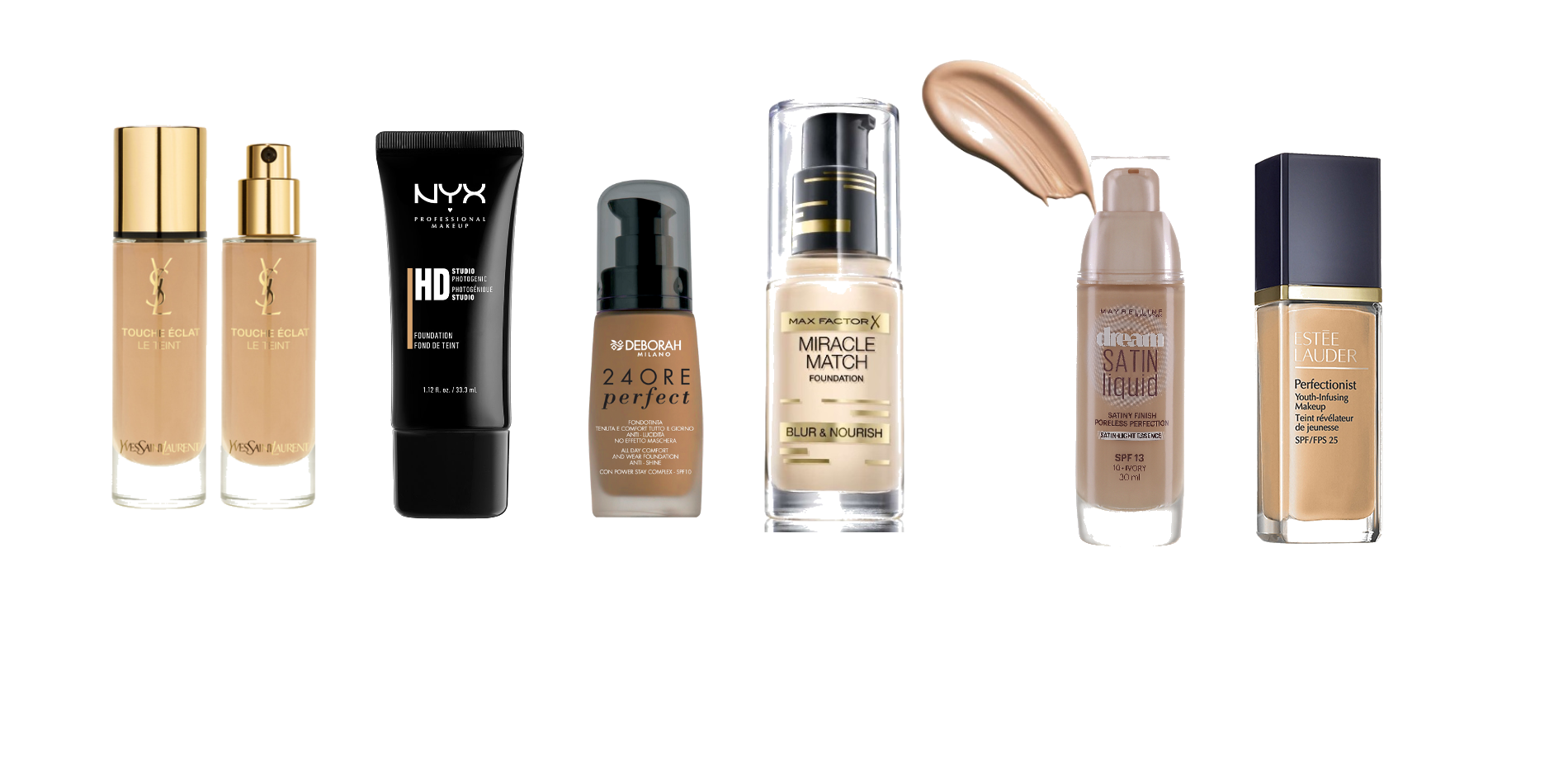 Six different foundations!