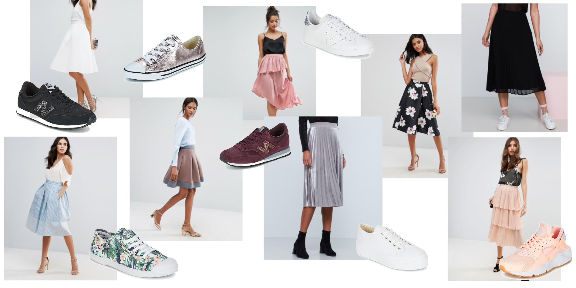 FASHION INSPIRATION // SKIRTS & SNEAKS