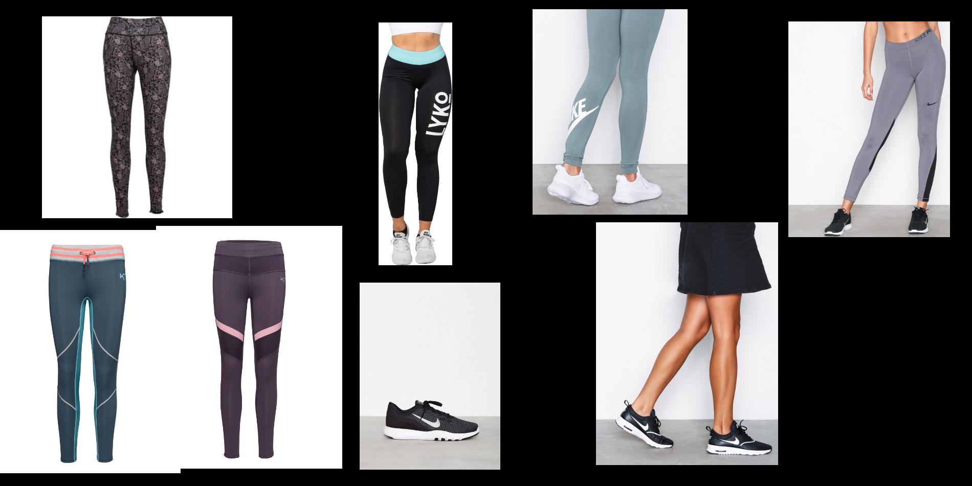 Promenader i snygga träningskläder och skor!