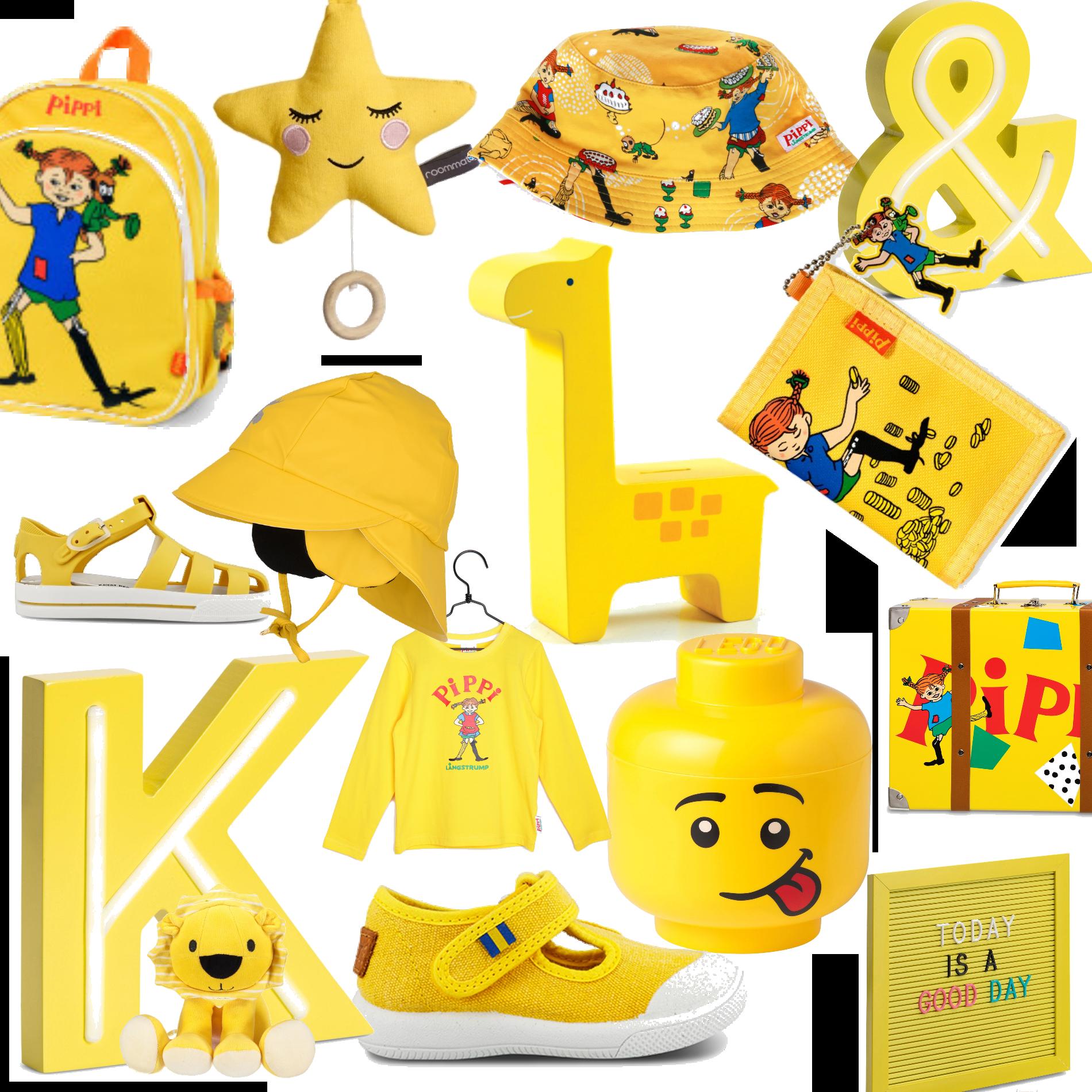 Påsk, gult och pippi.