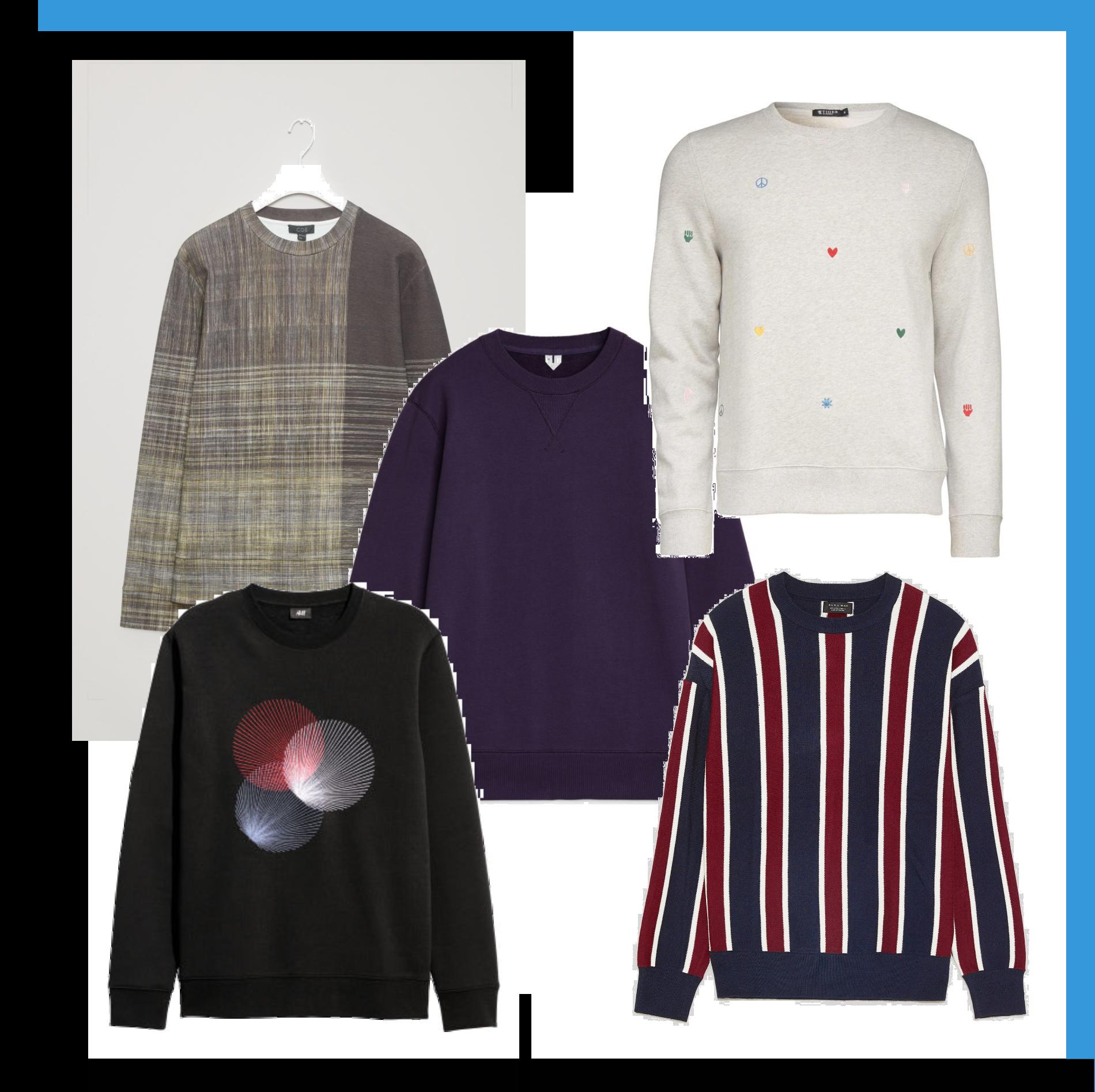 5 sweatshirts- i butik nu