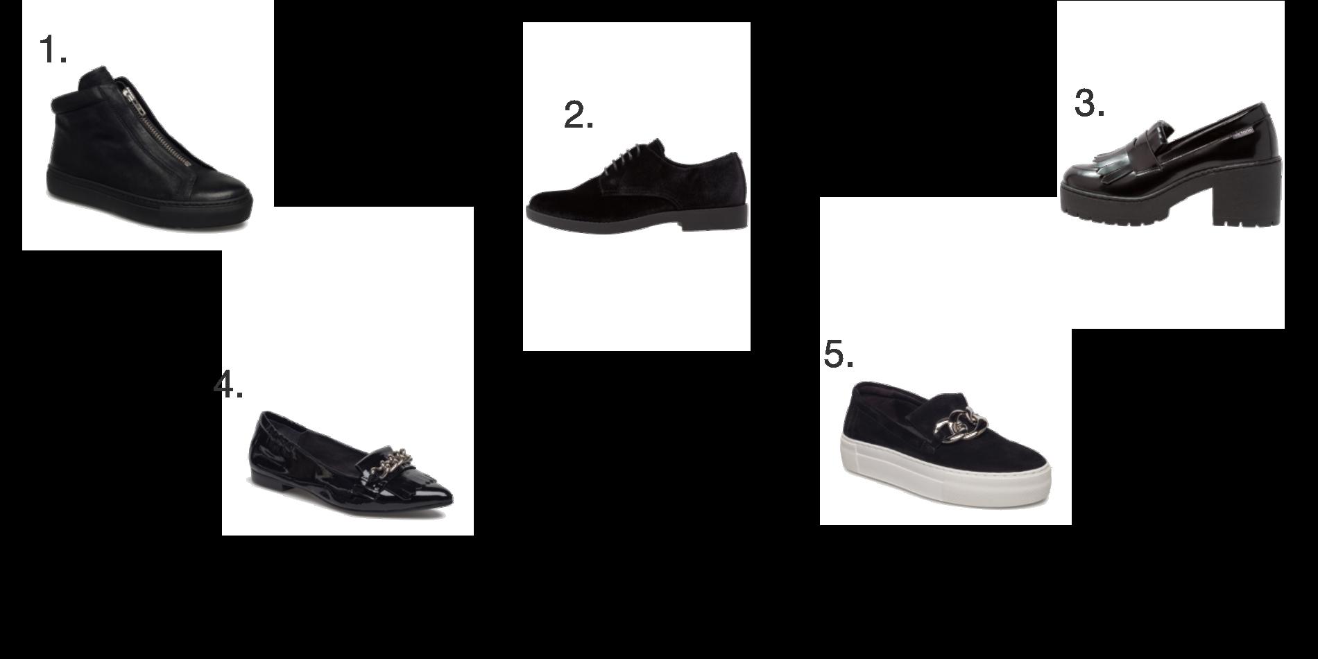 Five beautiful shoes