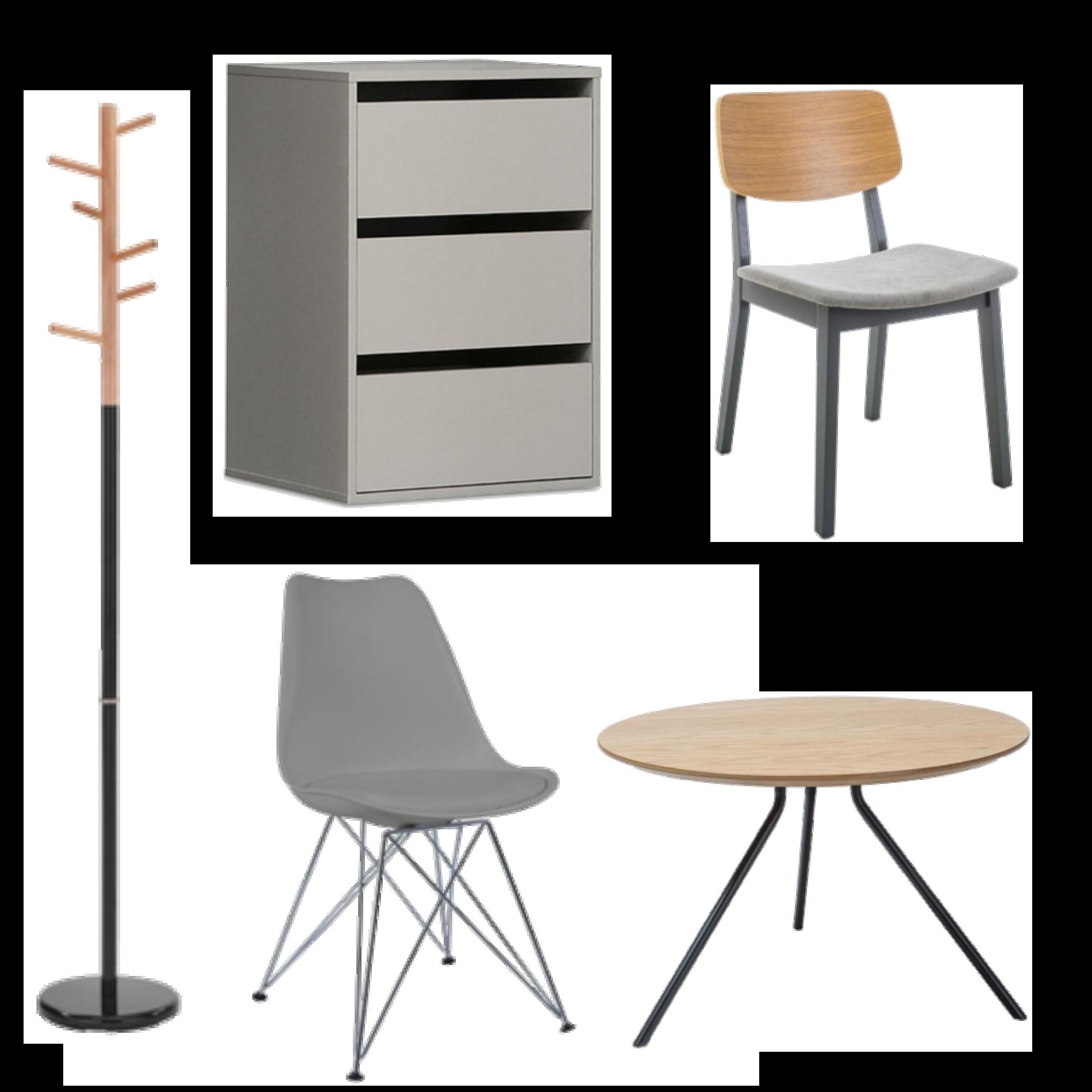 szybka metamorfoza salonu inspiracje stół wieszak krzesło komoda