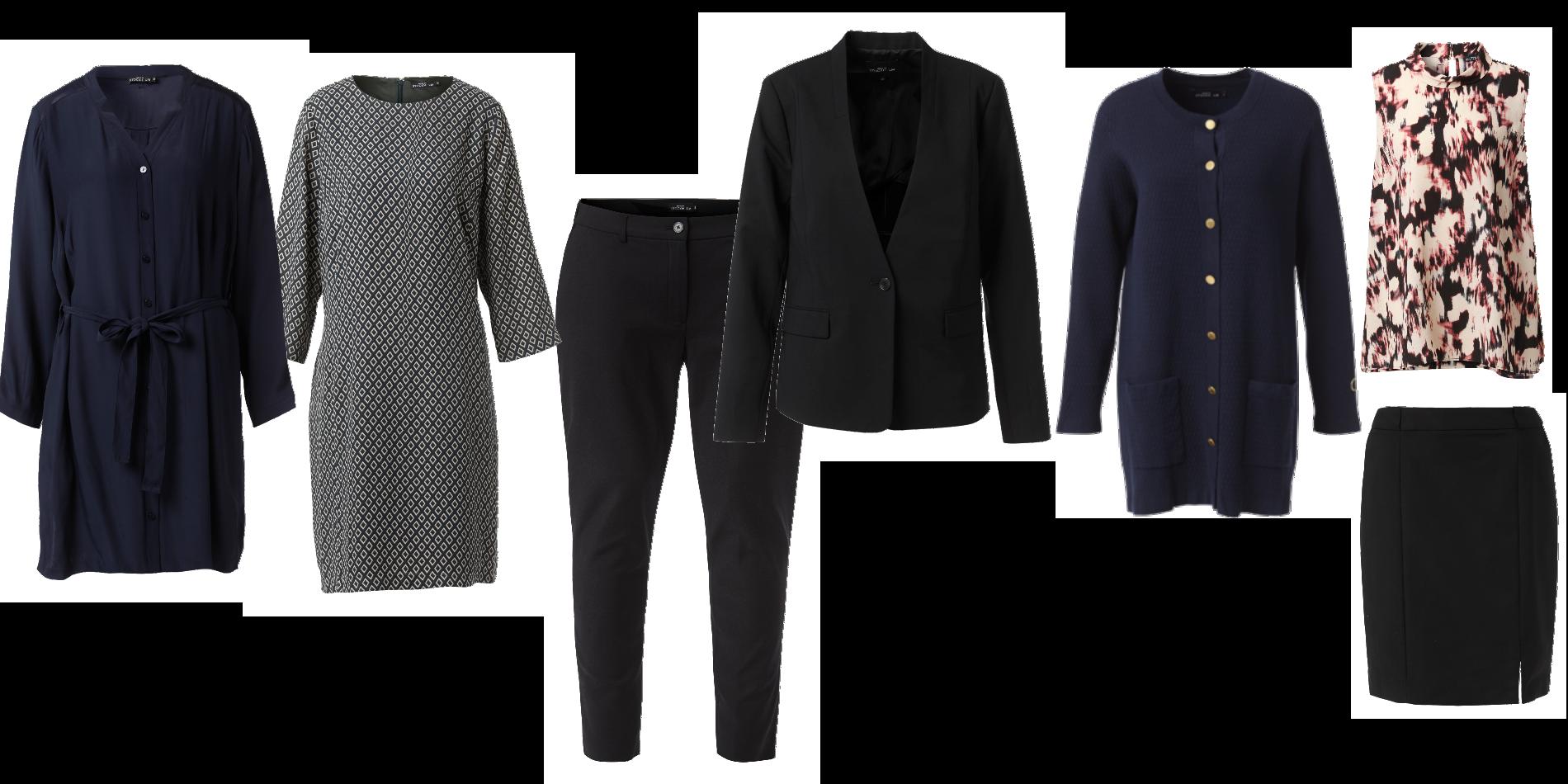 Kläder för kontoret i större storlekar