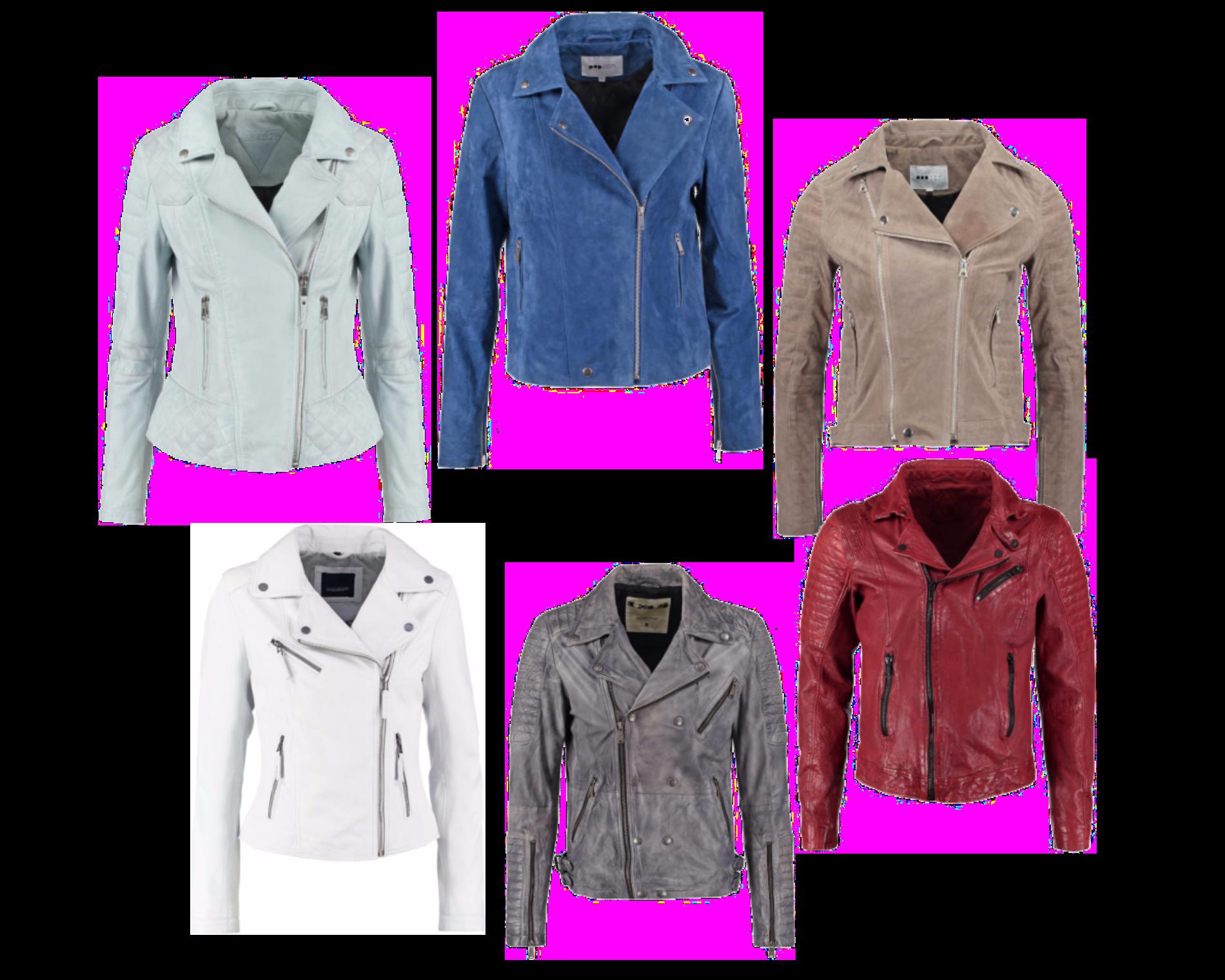 Skinn/mocka jackor i färg