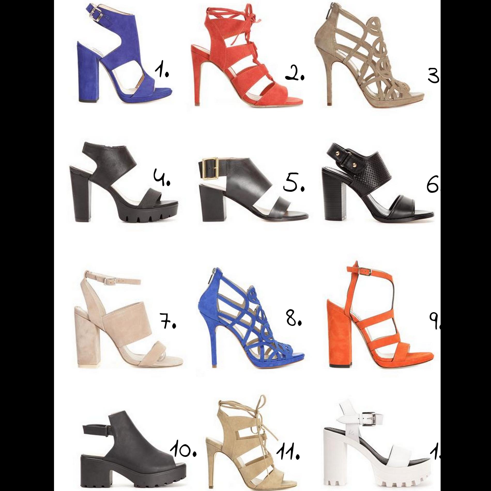 12 Sandaletter