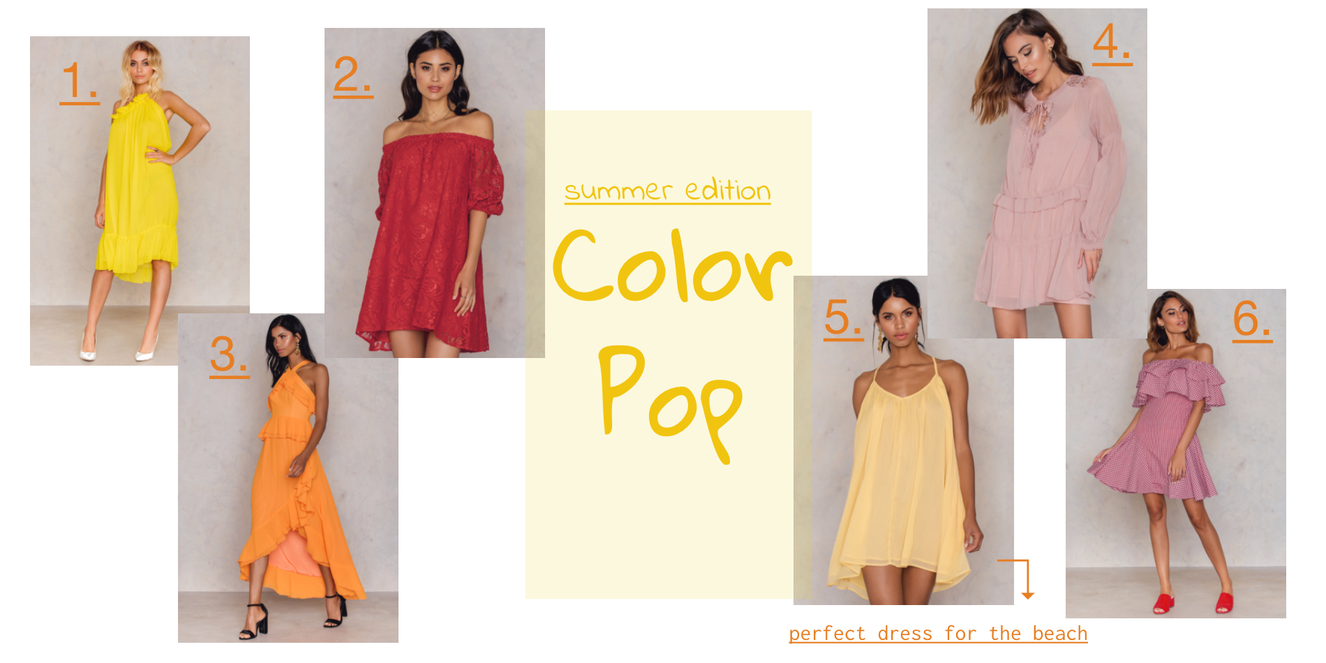 Summer dresses - color pop