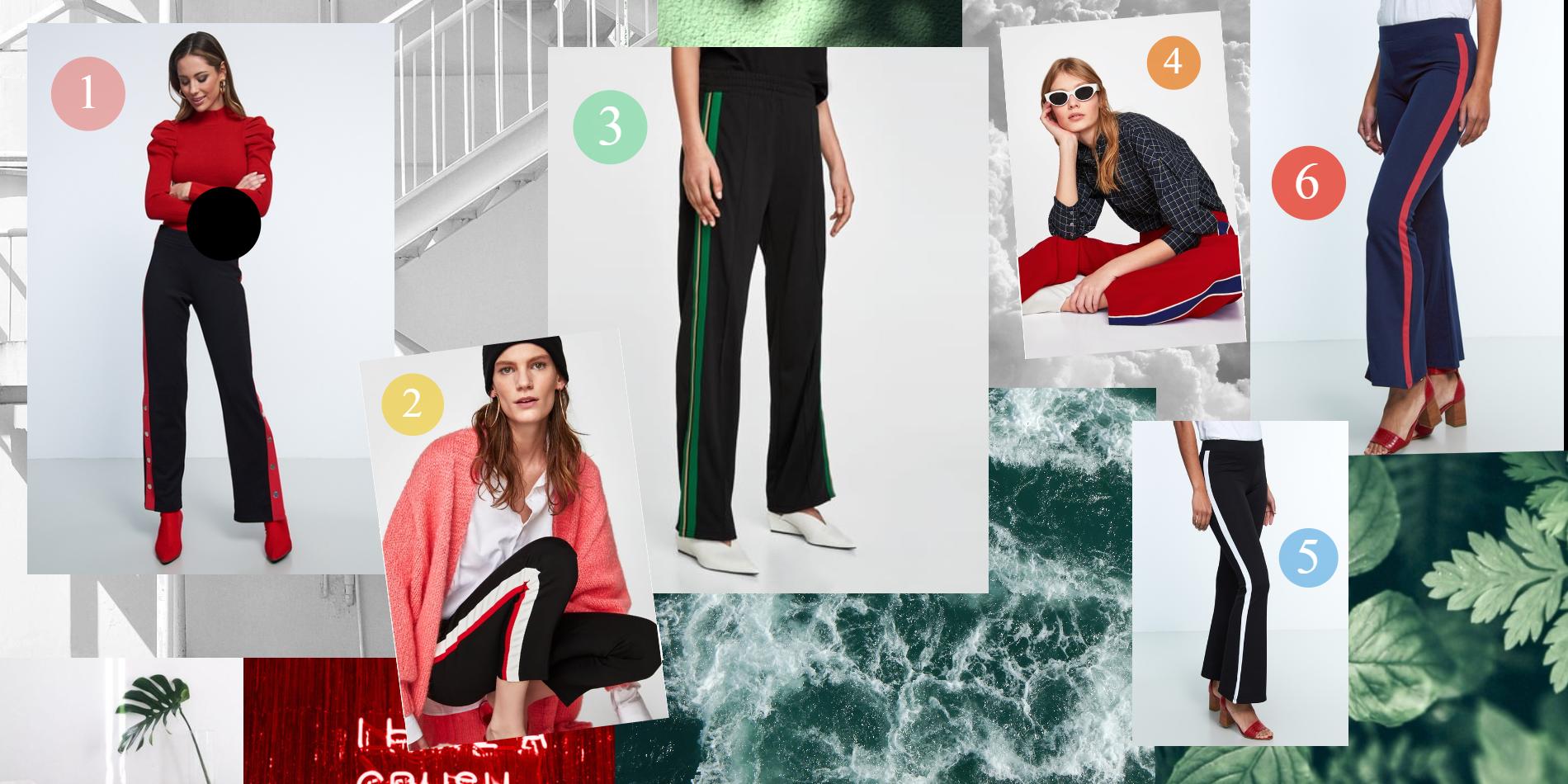 Följ den nya trenden - byxor med färgglad rand ★